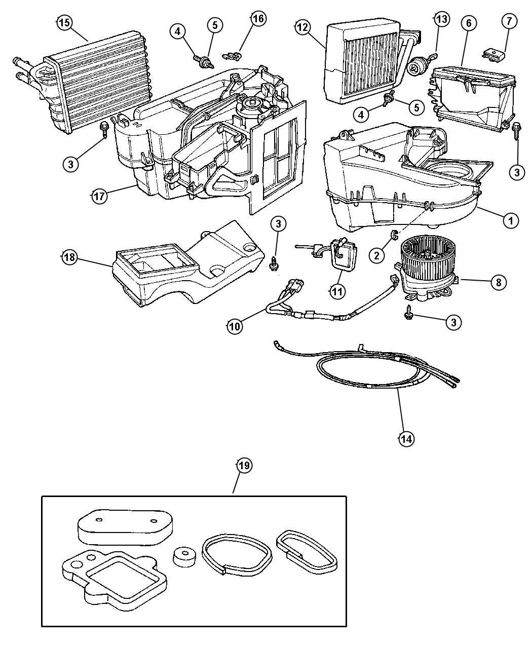 Dodge Stratus Core Seal Heater Heater Core Core