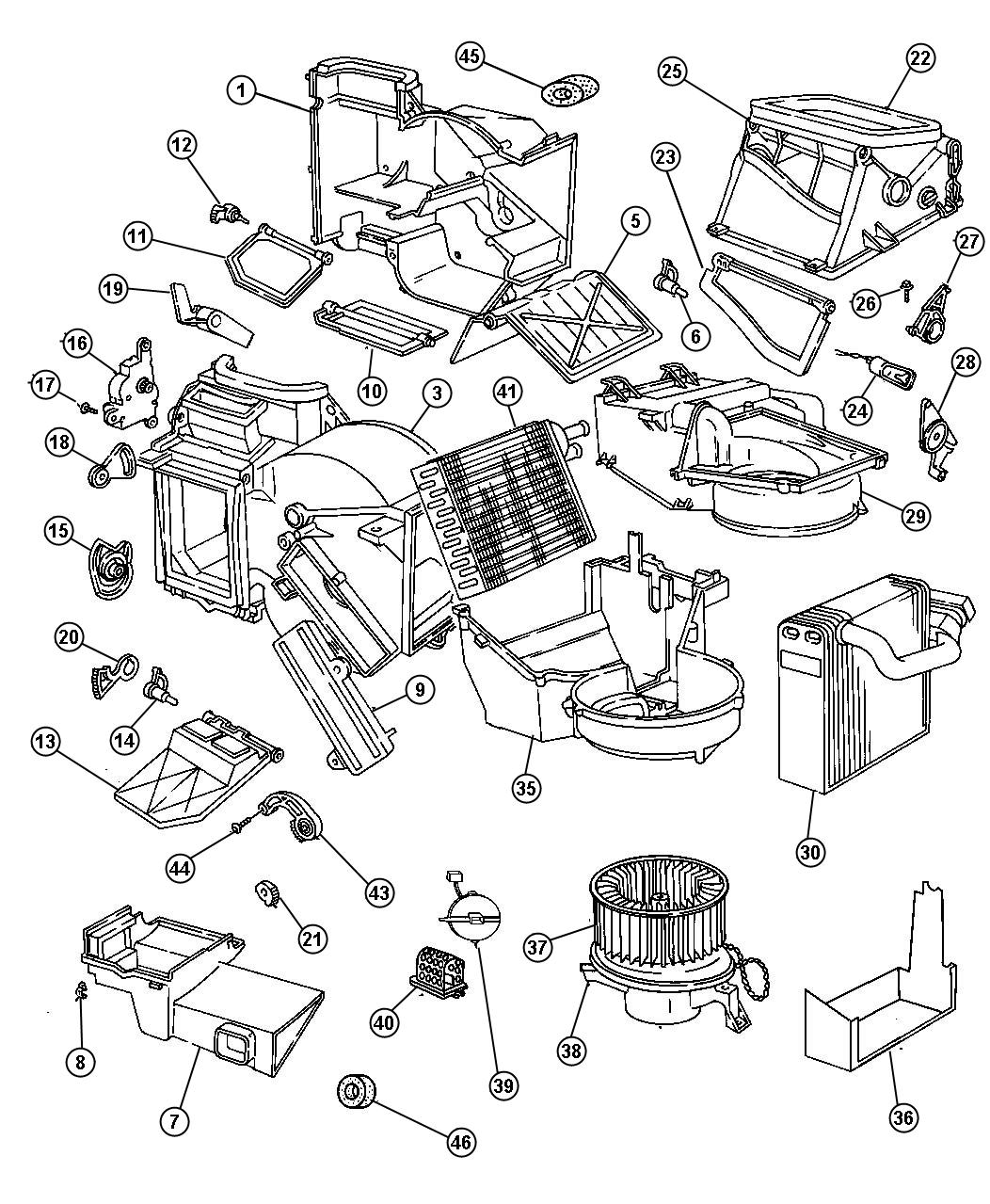Dodge Stratus Motor Blower With Wheel