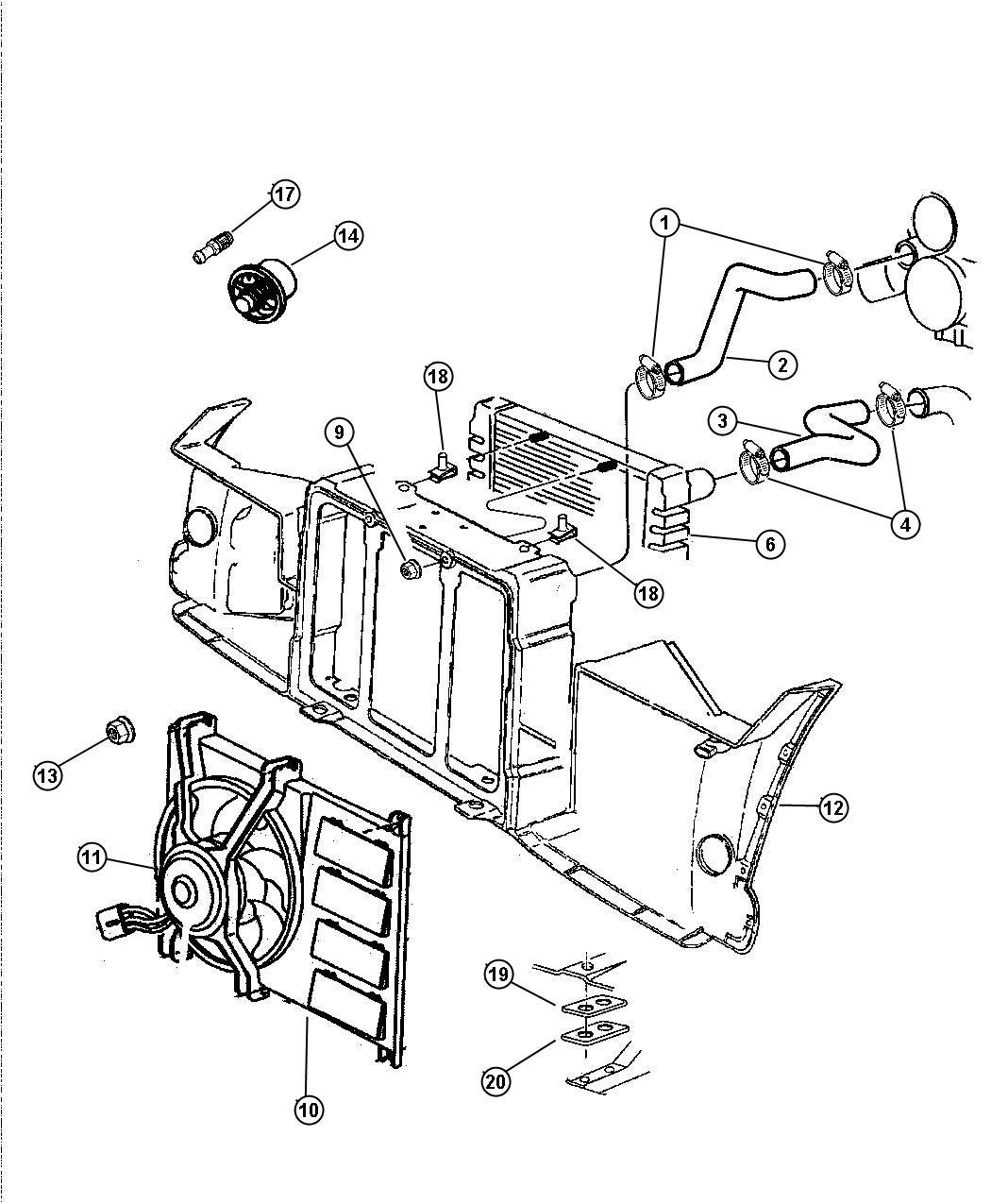 Dodge Viper Hose Coolant Reserve Tank Radiator