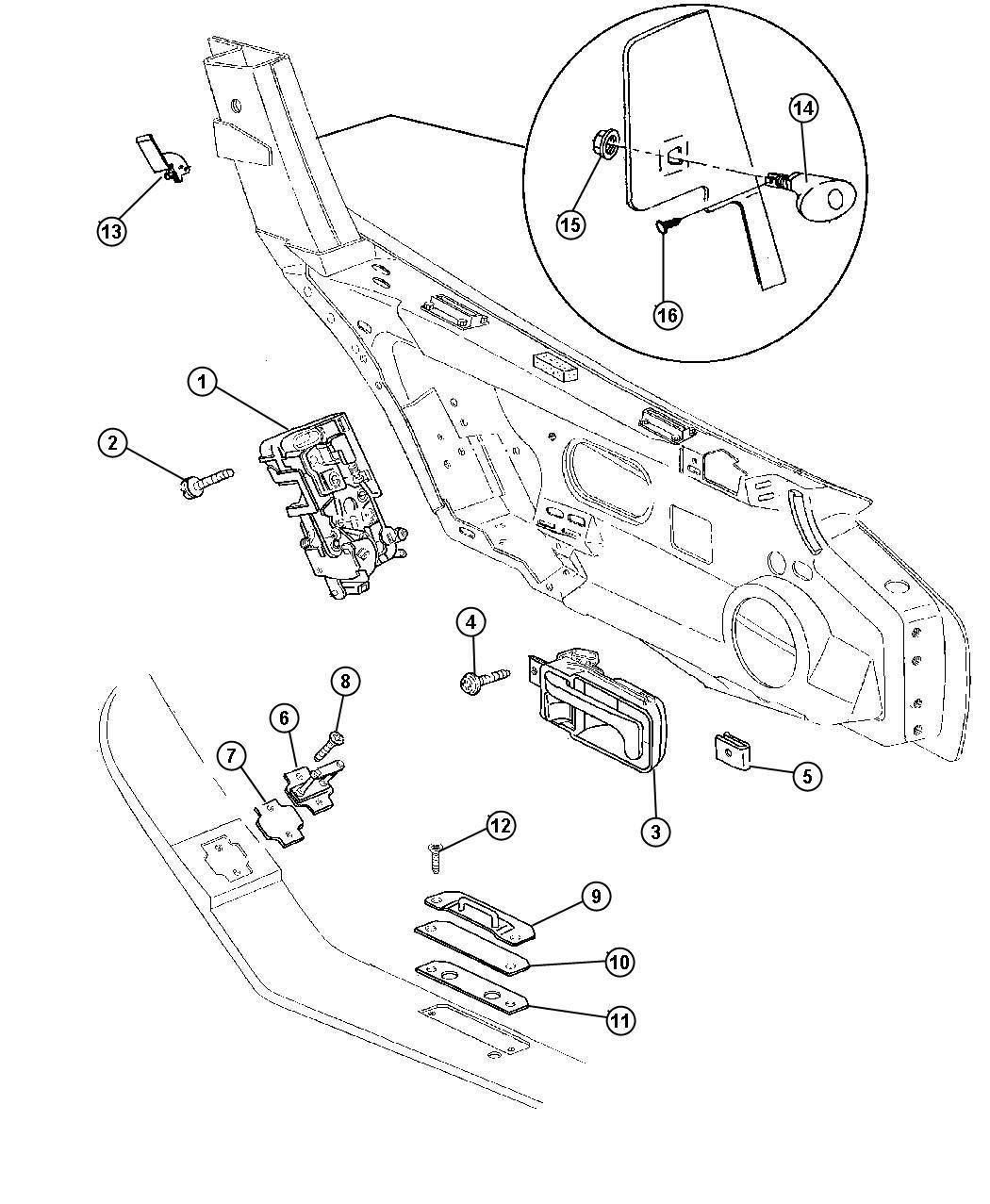Jeep Liberty Screw Flat Head M8x1 25x36 3 Striker