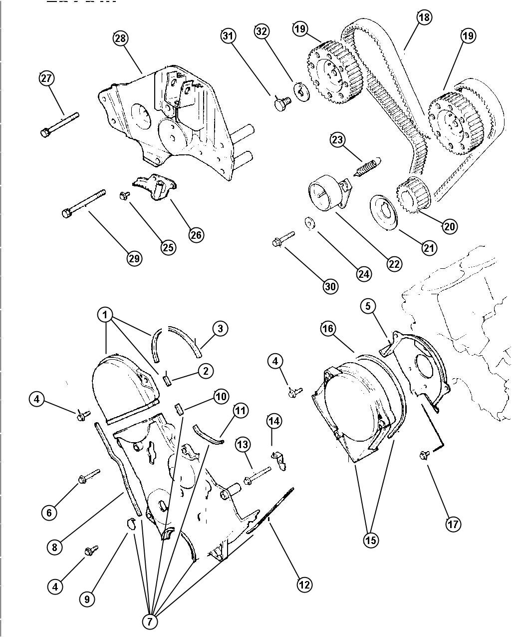 Dodge Caravan Bolt Hex Flange Head M8x45 Engine