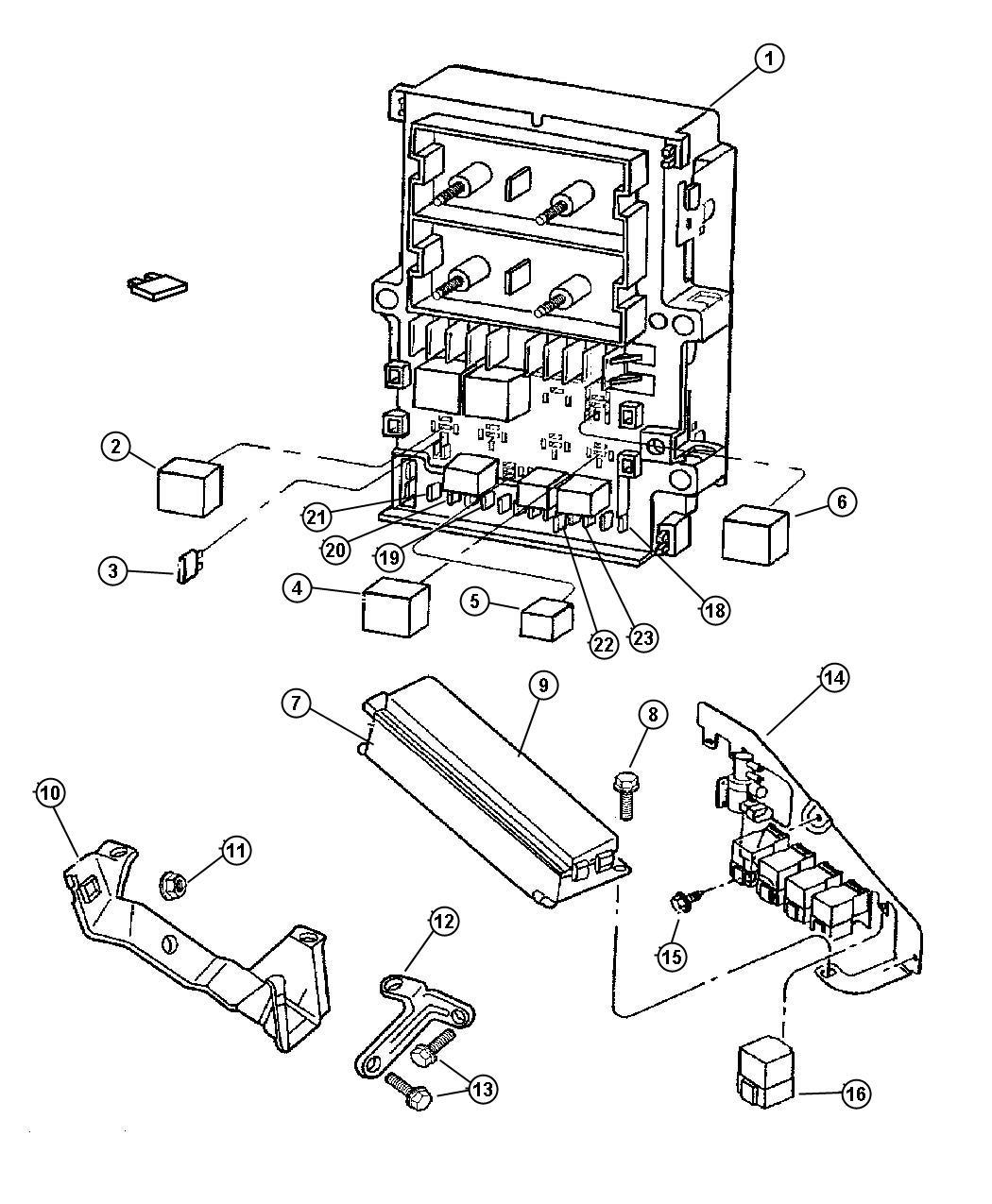 Chrysler Voyager Relay Electrical Mini Abs Pump Motor
