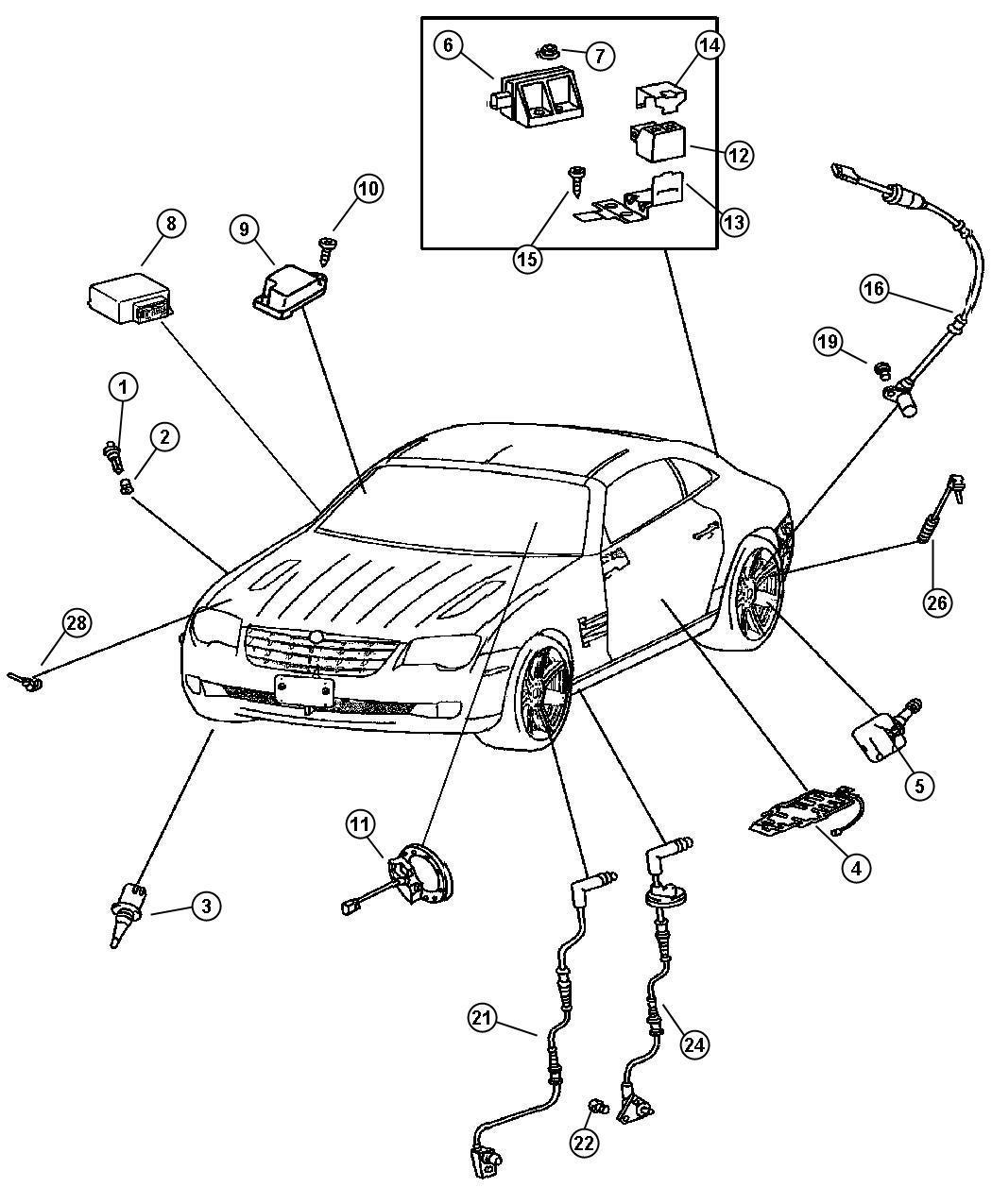 Chrysler Crossfire Sensor Washer Fluid Level Trim