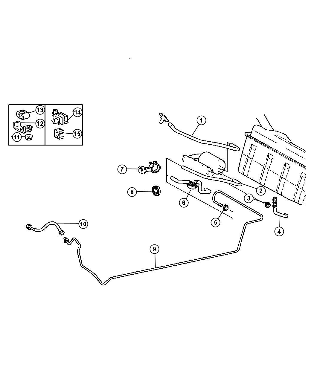 Chrysler Crossfire Grommet Fuel Line Lines
