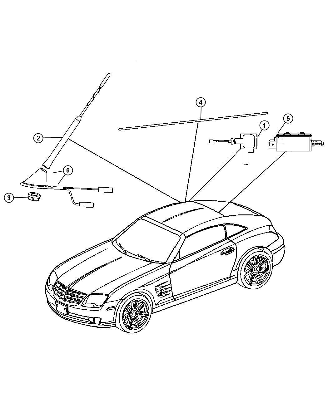 Chrysler Crossfire Base Antenna
