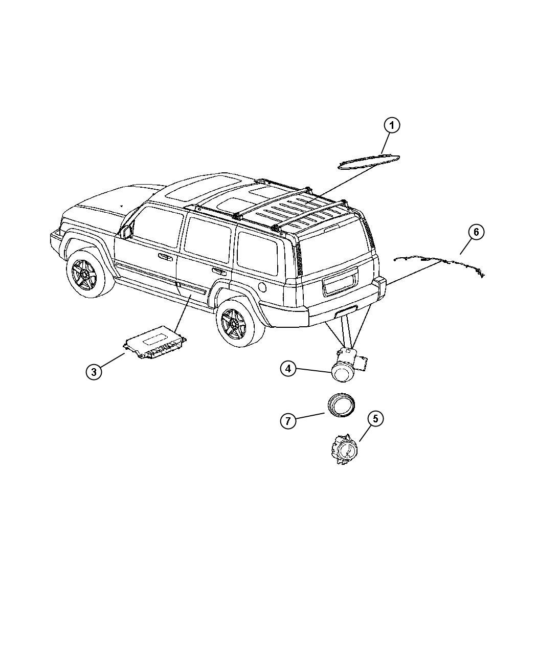 Jeep Commander Isolator Ring Back Up Sensor