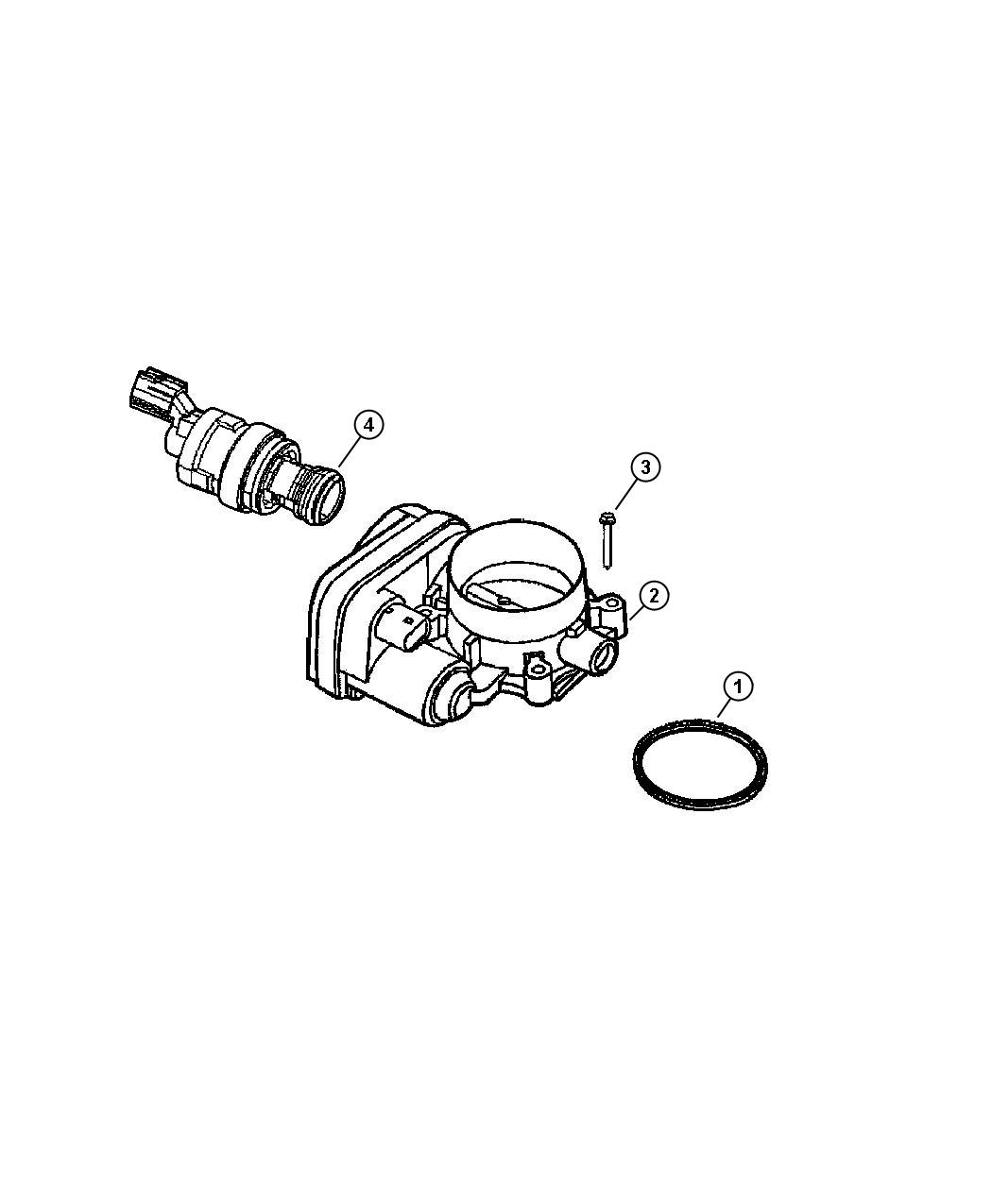Dodge Avenger Sensor Kit Throttle Position Engine