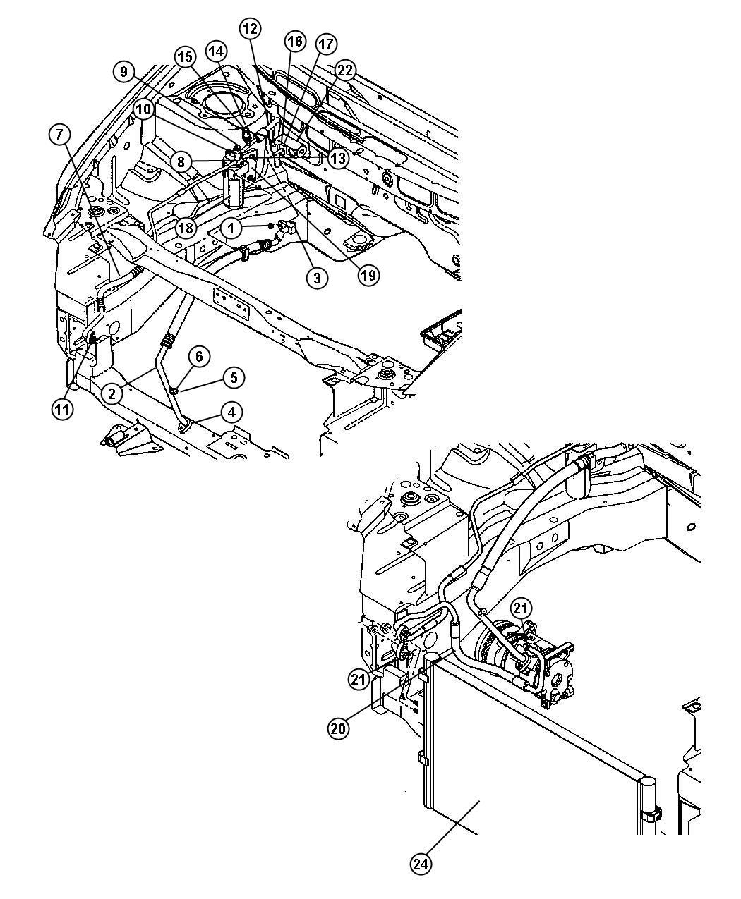 Dodge Caravan O Ring Seal Kit A C Line Slim Line