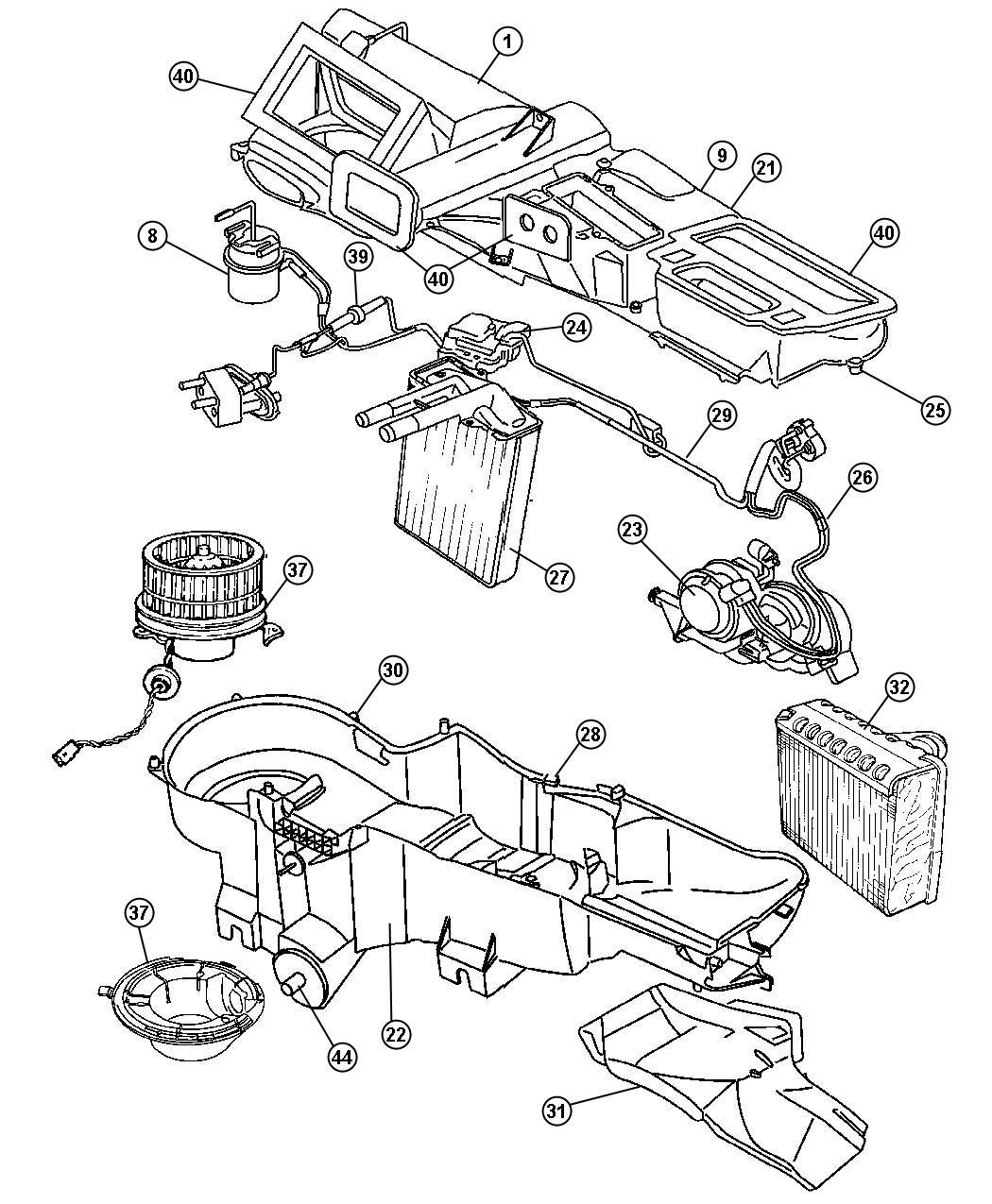 Jeep Liberty Evaporator Kit Air Conditioning