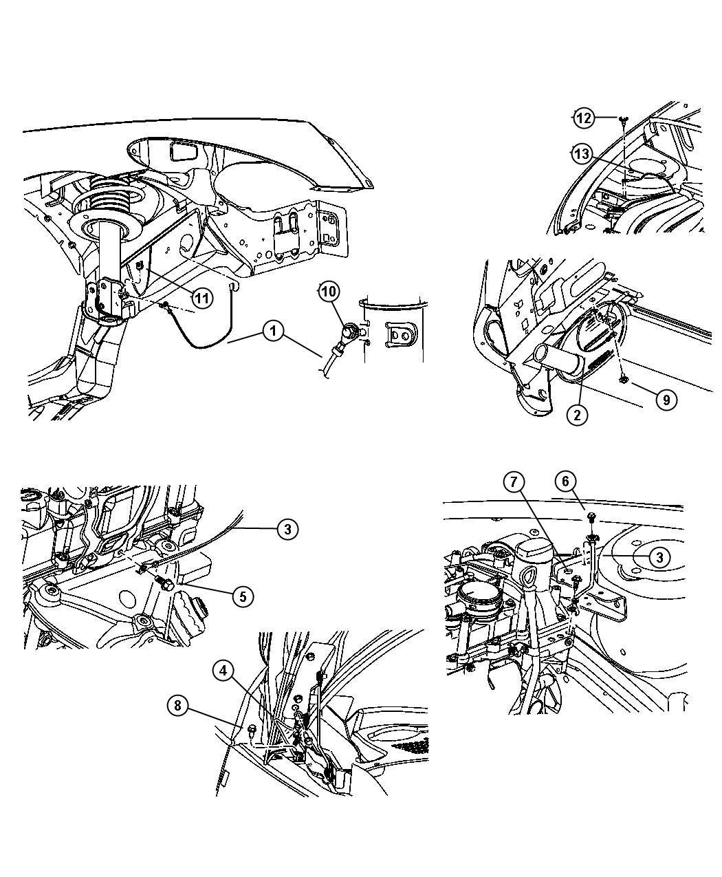 Chrysler Pt Cruiser Strap Ground Engine To Body