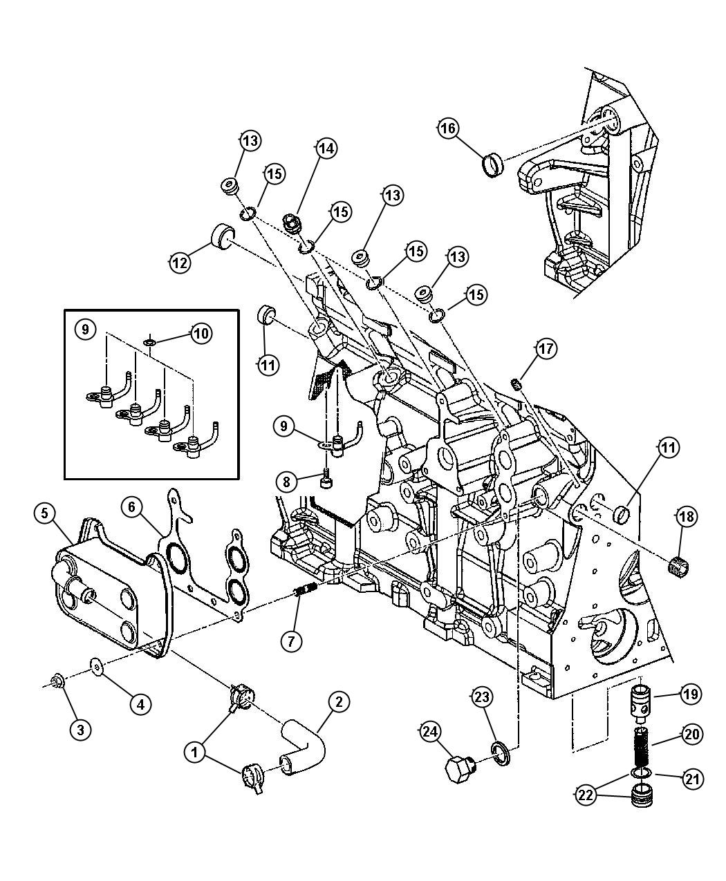 Dodge Stratus Plug Cylinder Block Oil Hole Passages