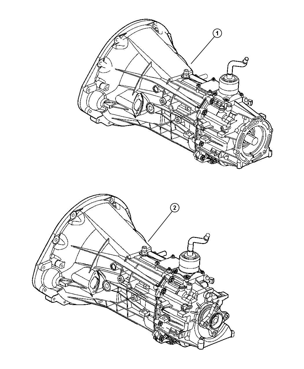 Dodge Dakota Transmission 6 Speed 2wd Assembly Case