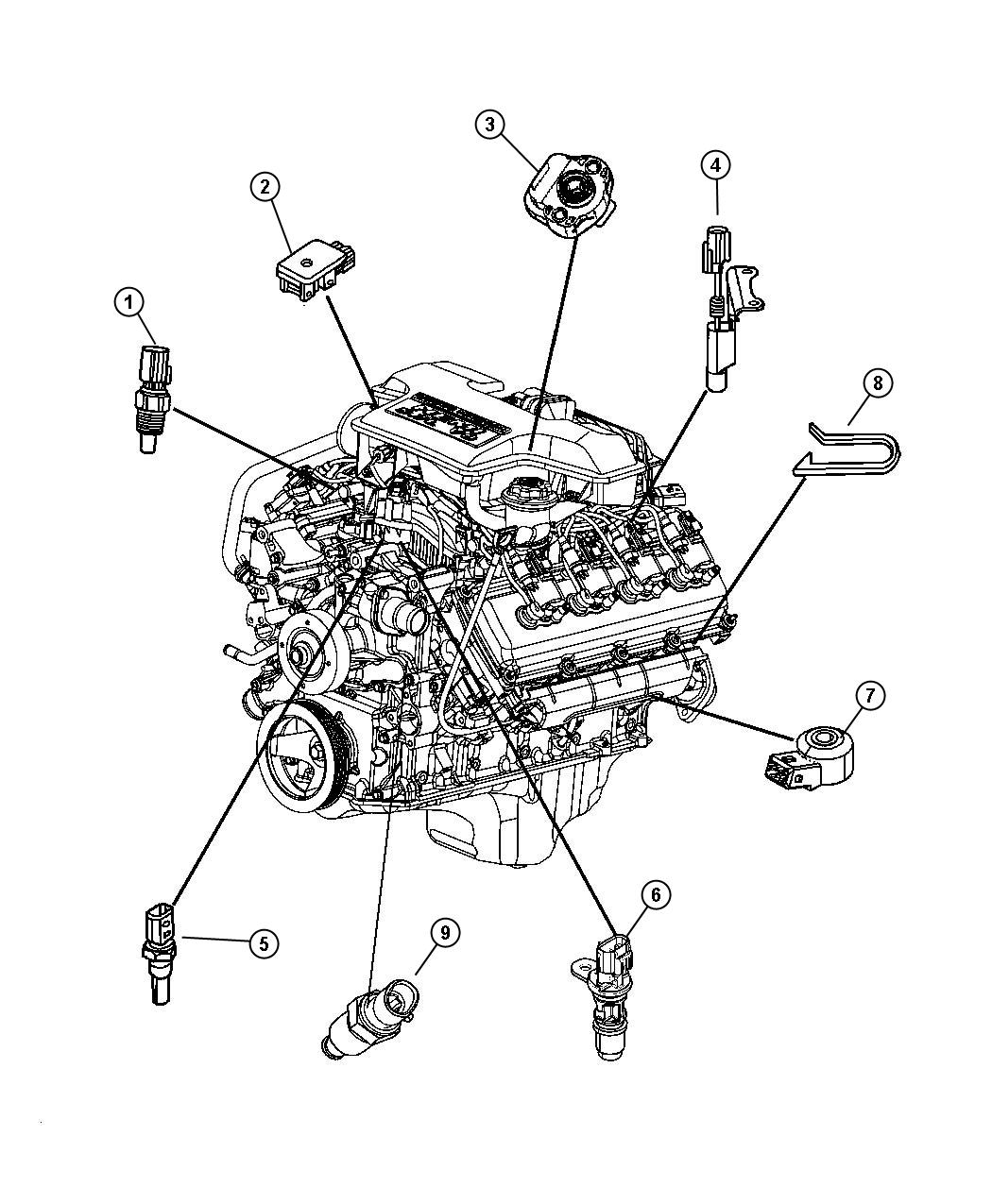 Dodge Ram Sensor Crankshaft Position Engine