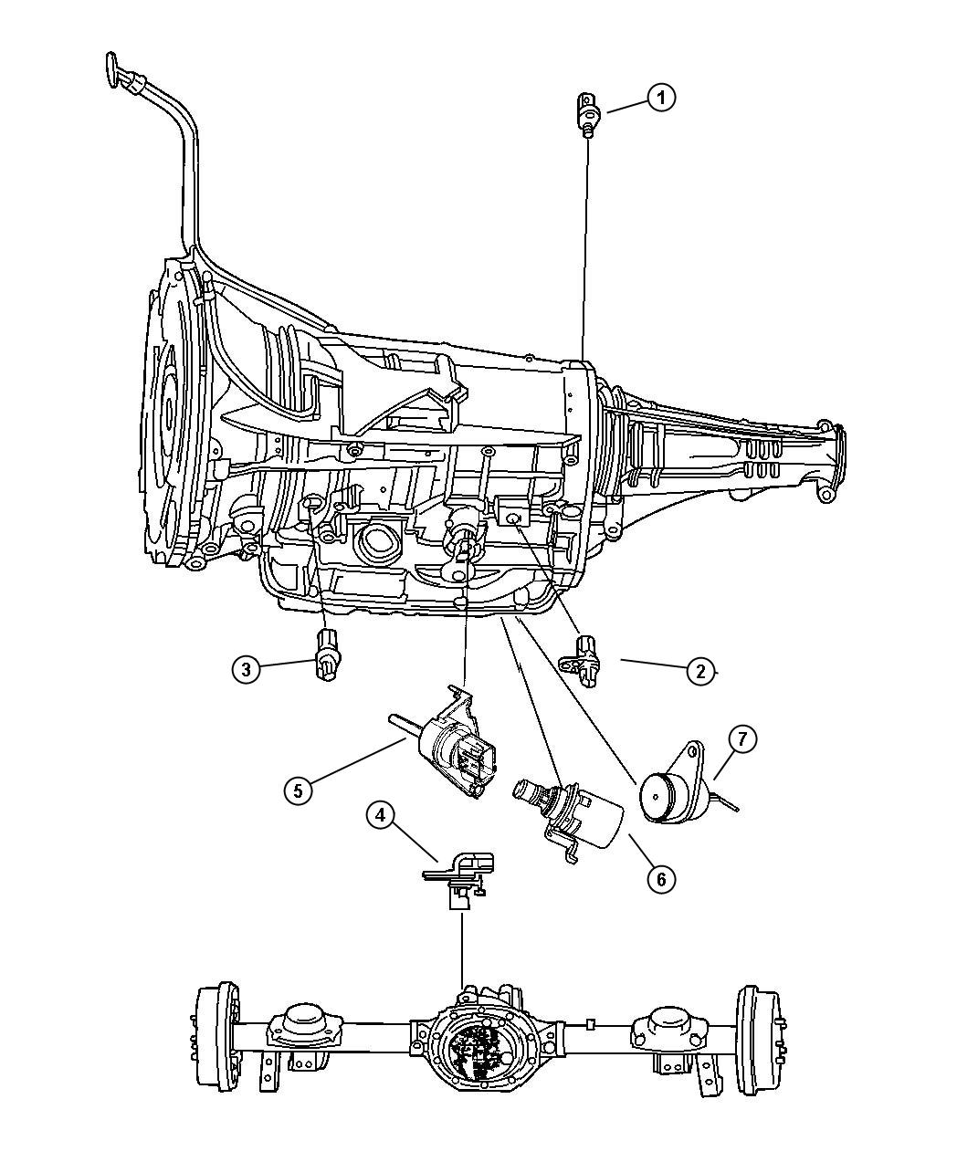 Dodge Durango Sensor Wheel Speed Rear Right Or