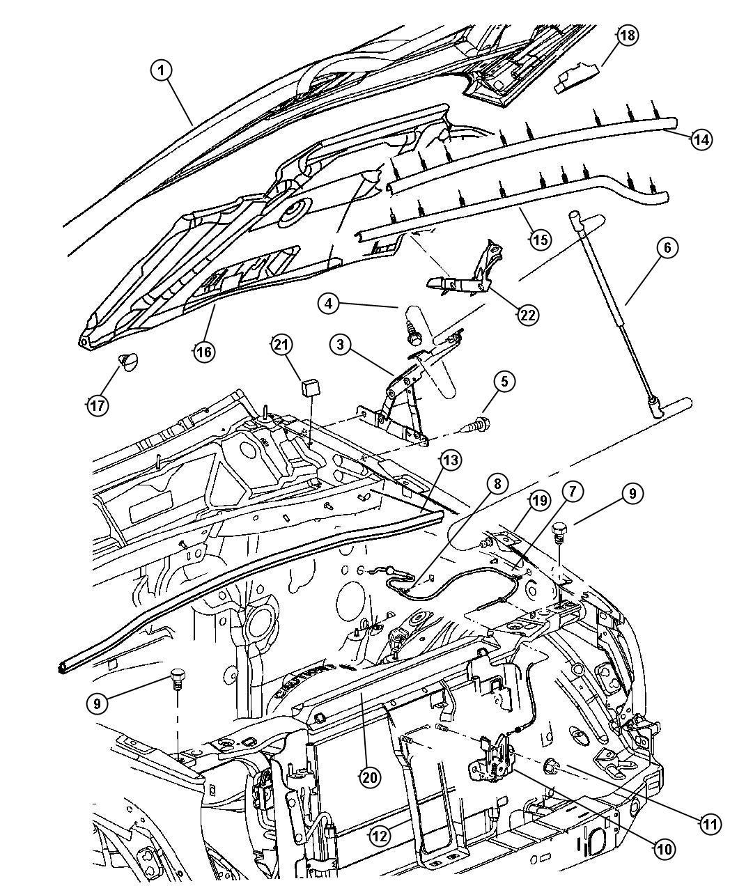 Jeep Liberty Crossmember Radiator Upper