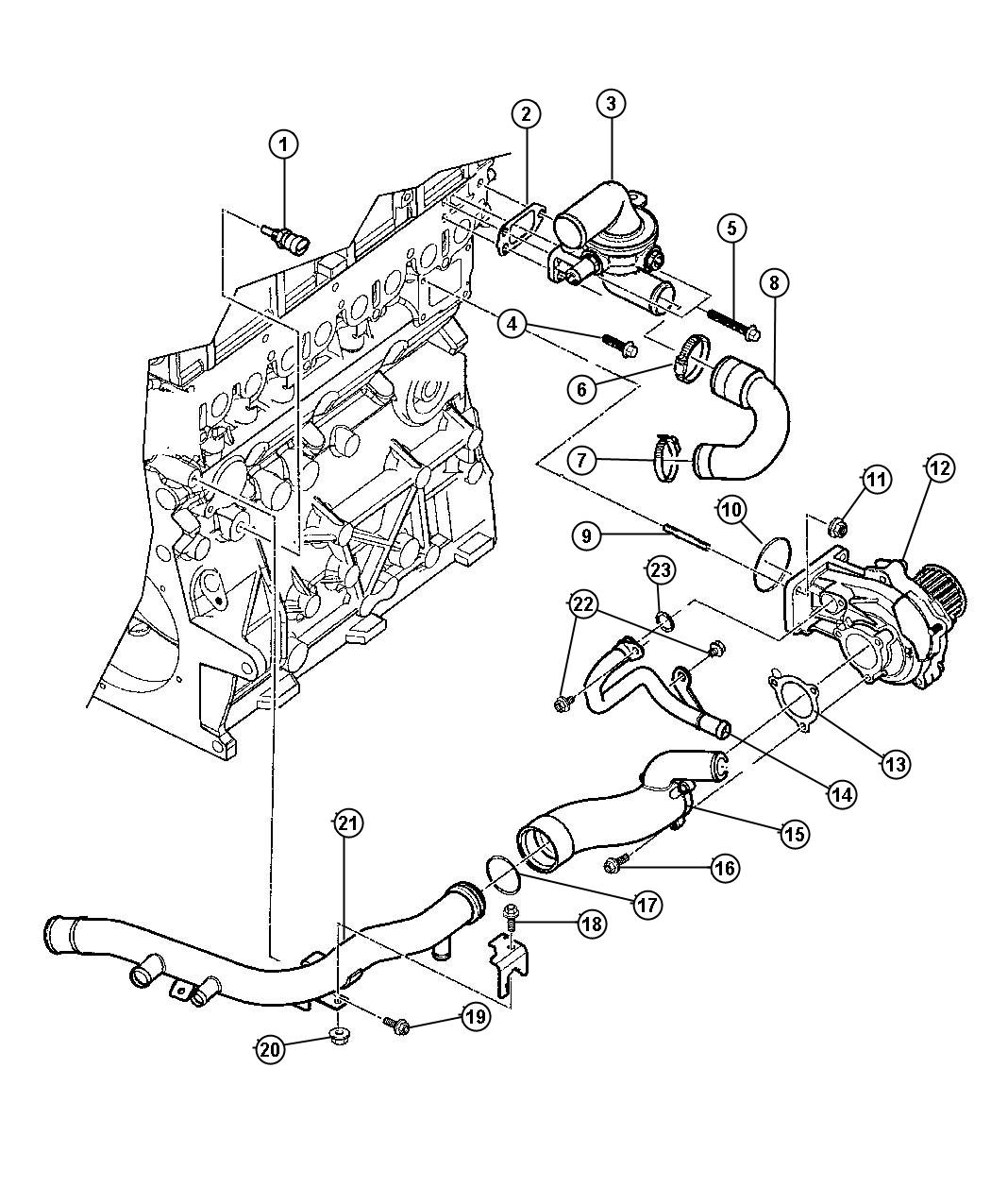 Jeep Liberty Adapter Water Pump