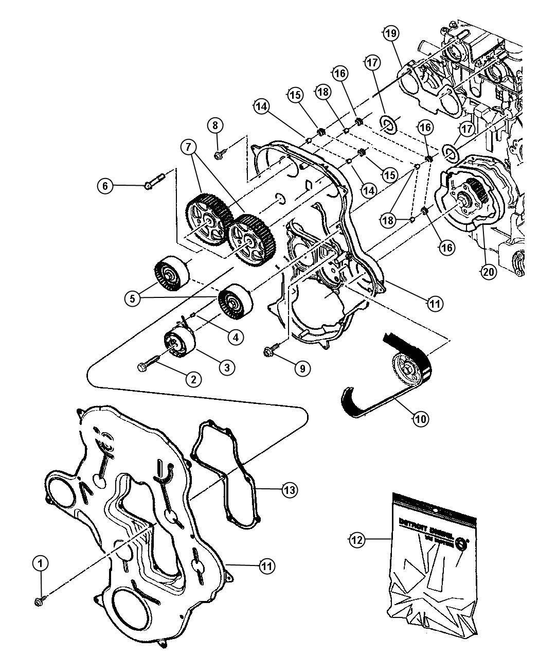 Chrysler 200 Tensioner Belt