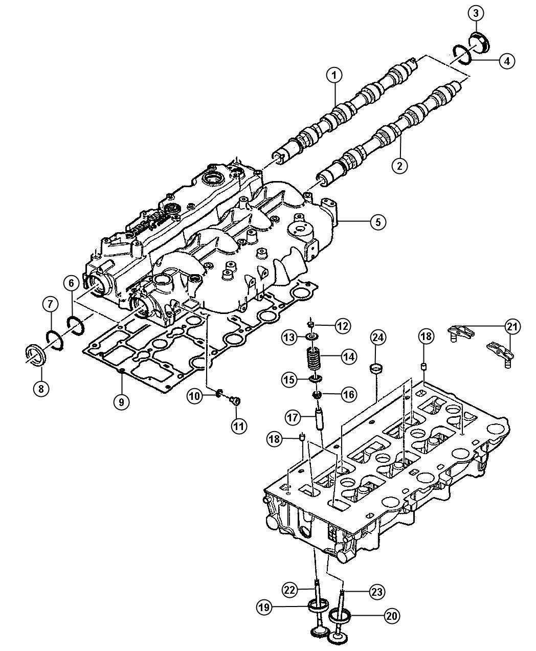 Jeep Liberty Lock Valve Spring Retainer
