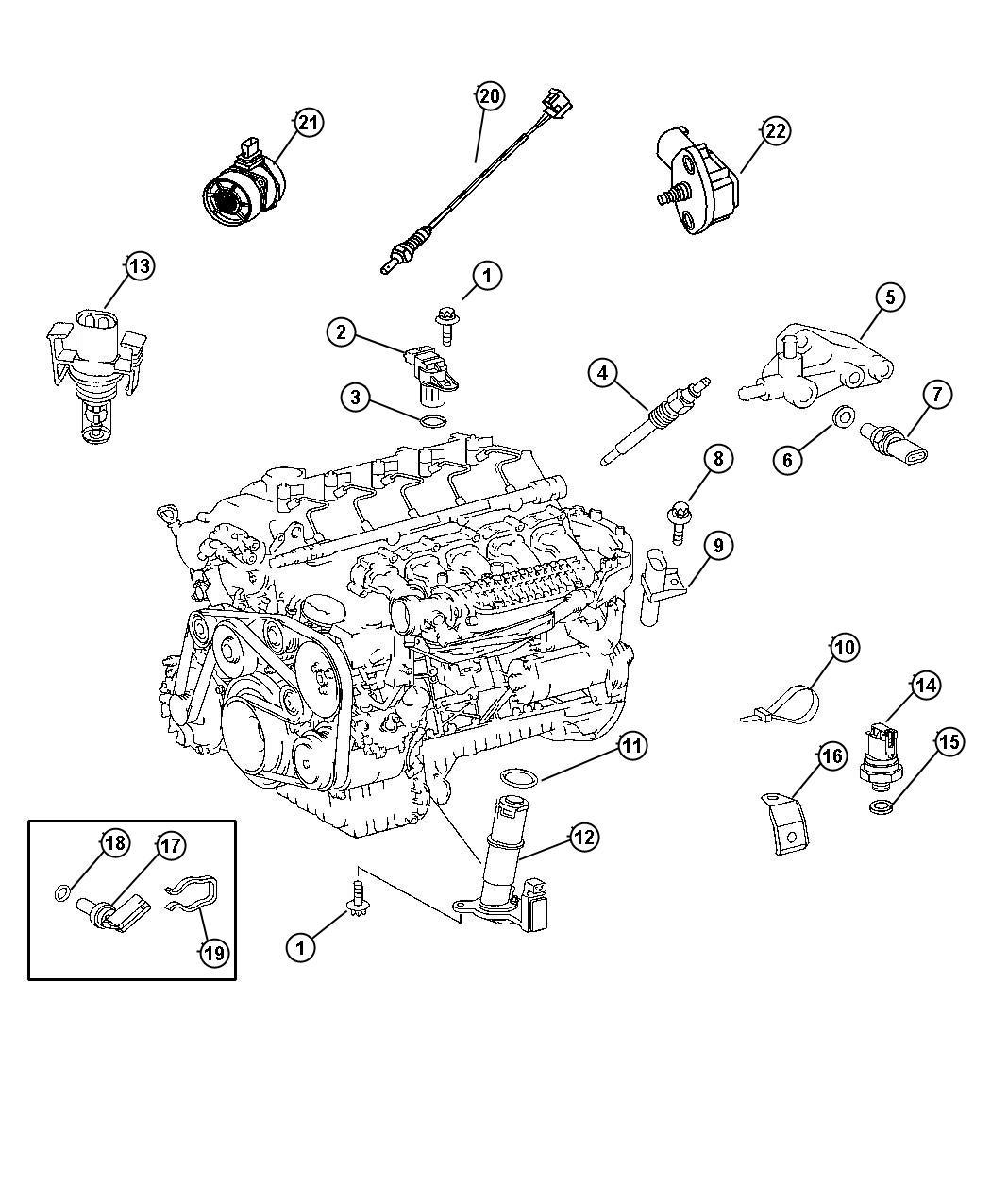 Dodge Sprinter Sending Unit Sensor Oil Temperature