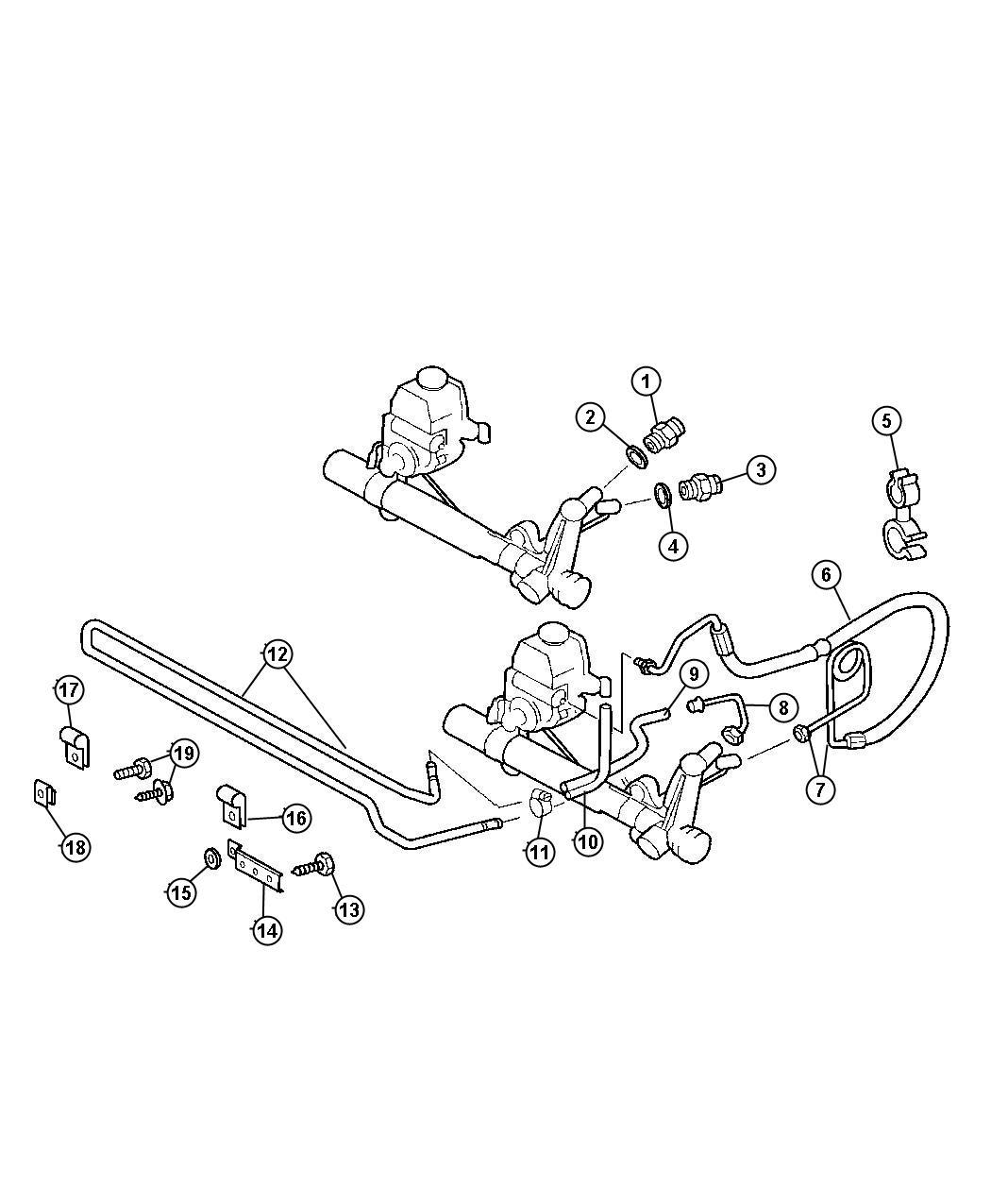 Dodge Sprinter Hose Power Steering Pressure