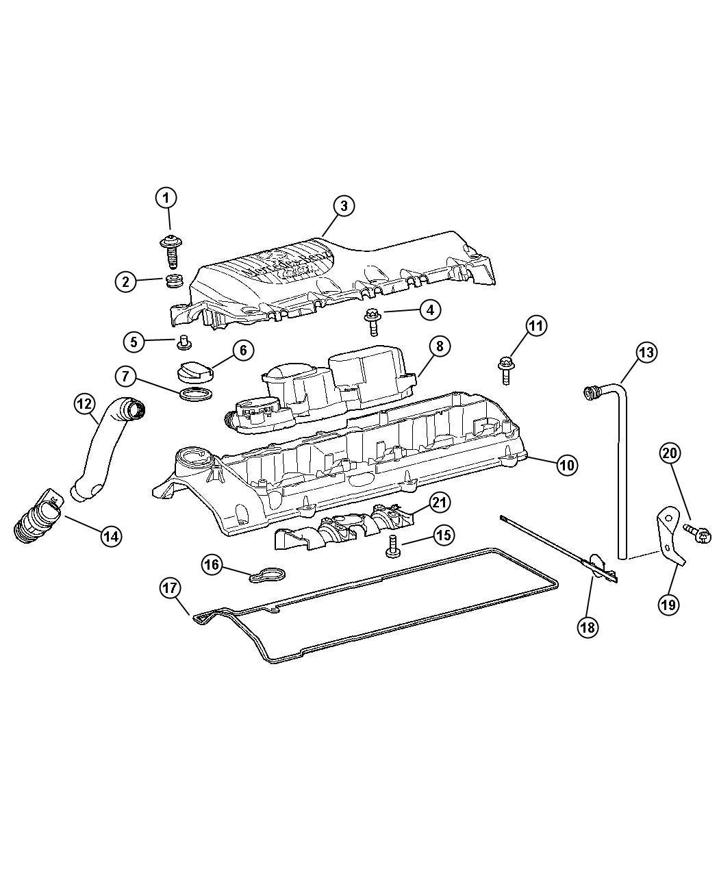 Dodge Sprinter Cover Engine Cylinder Head