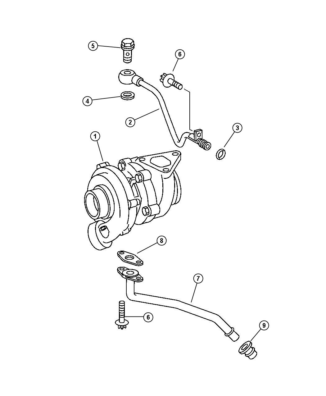 Dodge Sprinter Gasket Turbo Oil Return Pipe