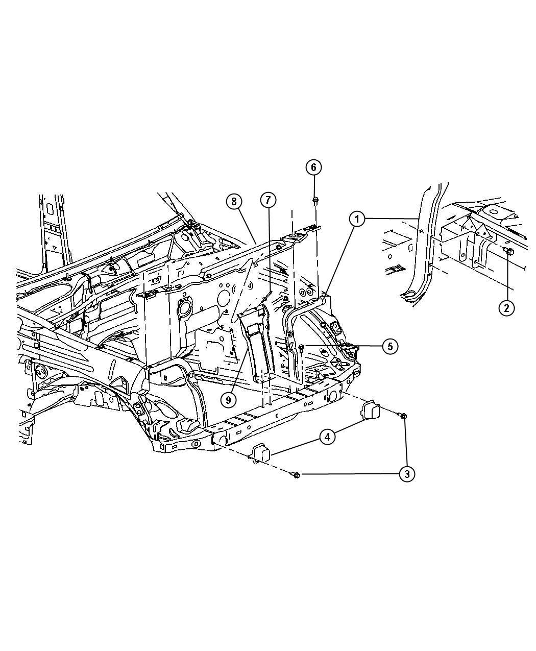 Dodge Avenger Support Radiator Lower Related