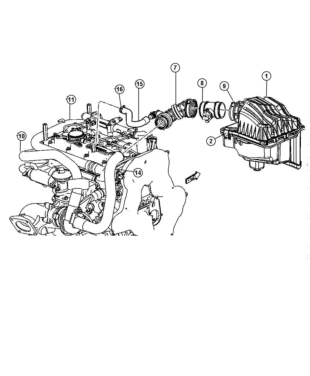 Dodge Ram Element Air Cleaner Engine Body