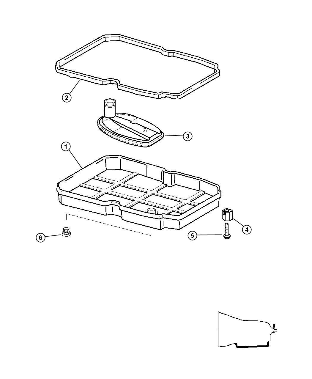 Dodge Sprinter Pan Transmission Oil Pan Kit