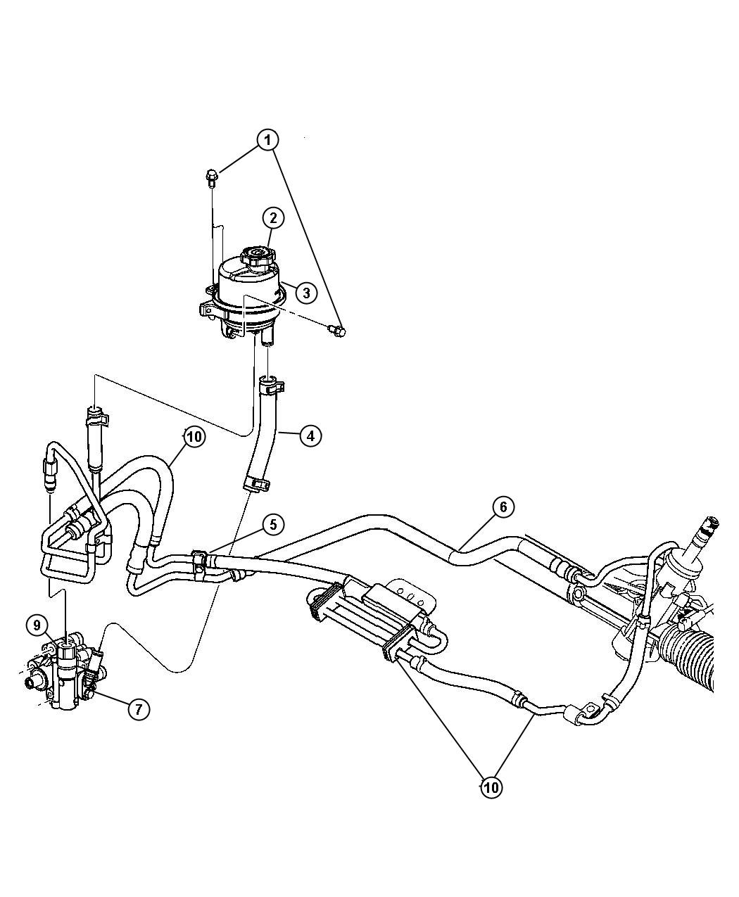 Dodge Avenger Pump Power Steering Assembly