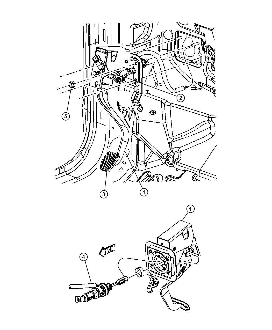 Dodge Caliber Switch Clutch Starter Interlock 5 Speed