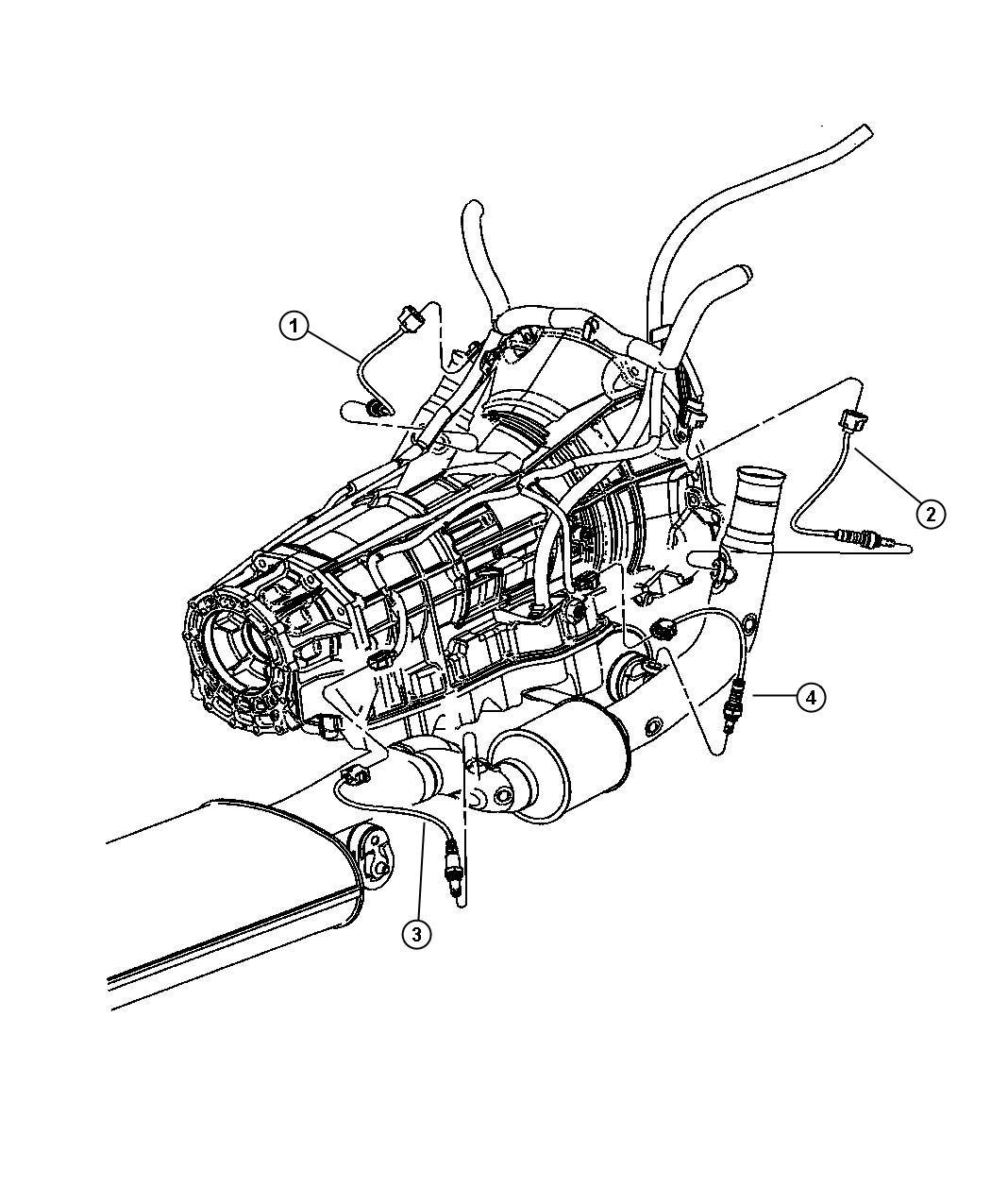 Dodge Caliber Sensor Oxygen After Catalyst Before