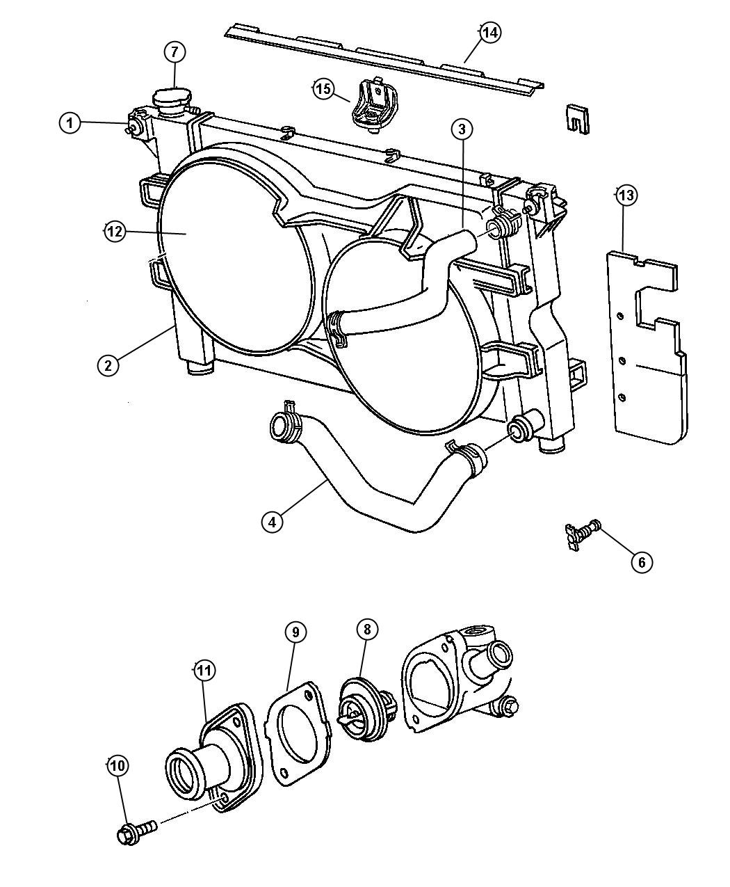 Jeep Liberty Radiator Engine Cooling Magneti