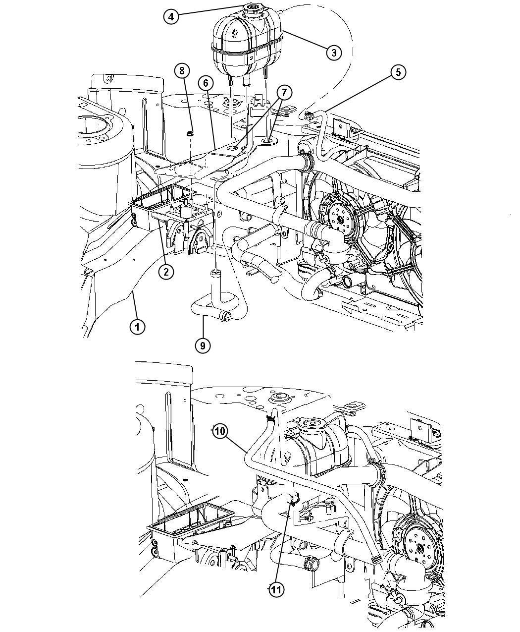 Dodge Ram Bottle Pressurized Coolant Includes