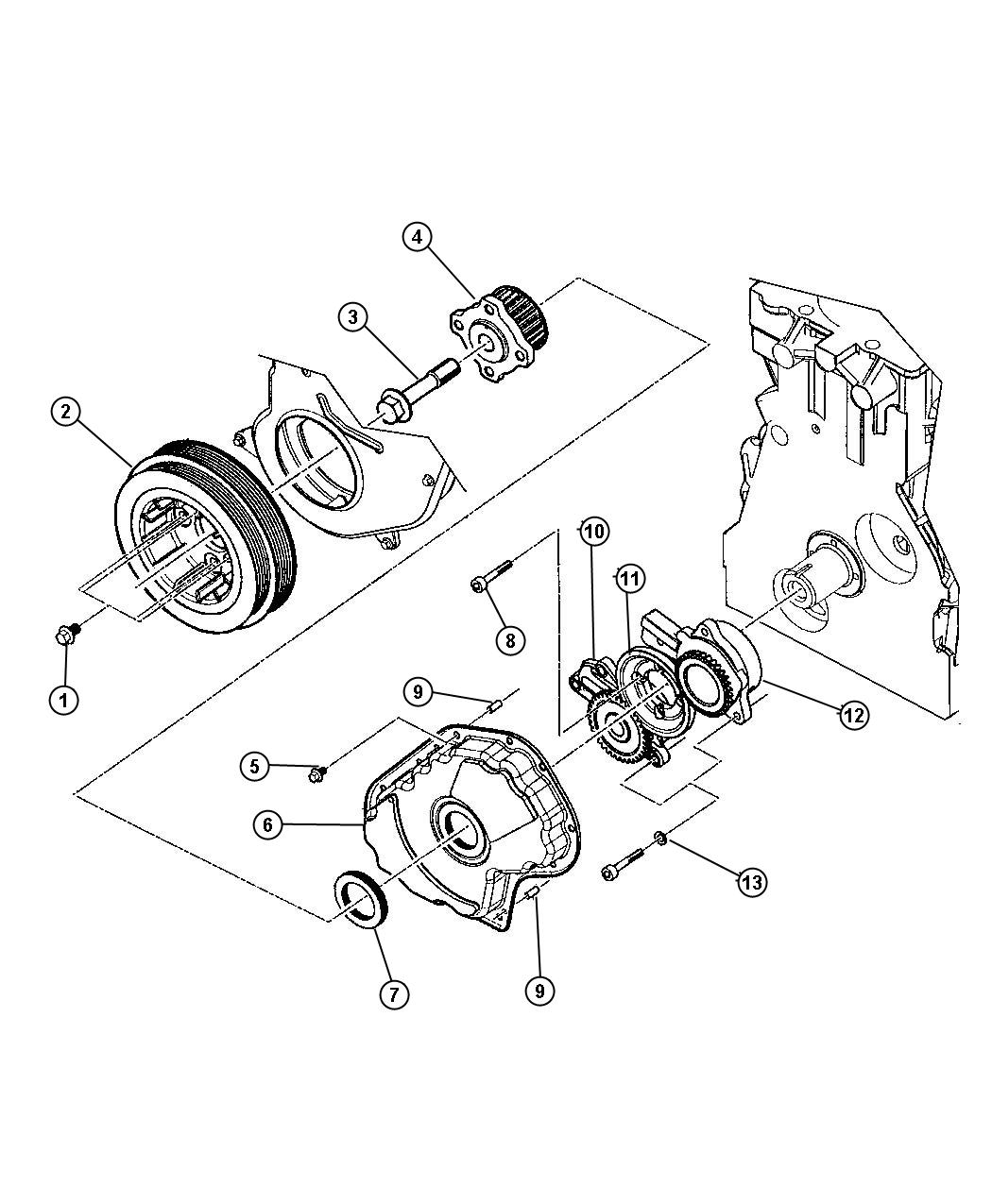 Jeep Liberty Cover Timing Belt Enginesel