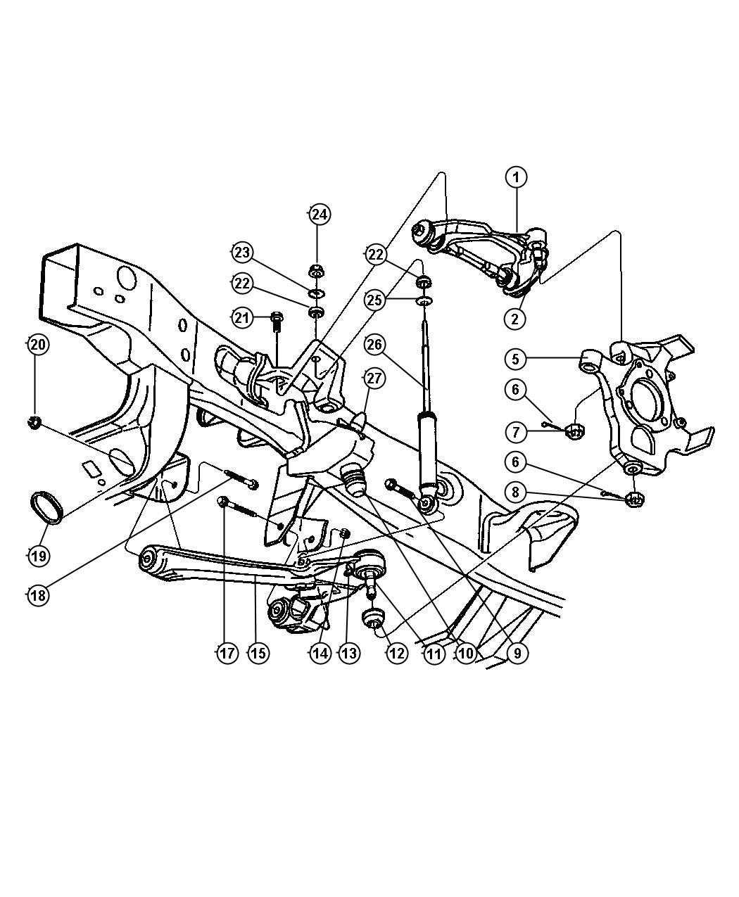 Dodge Durango Parts Diagram Tire