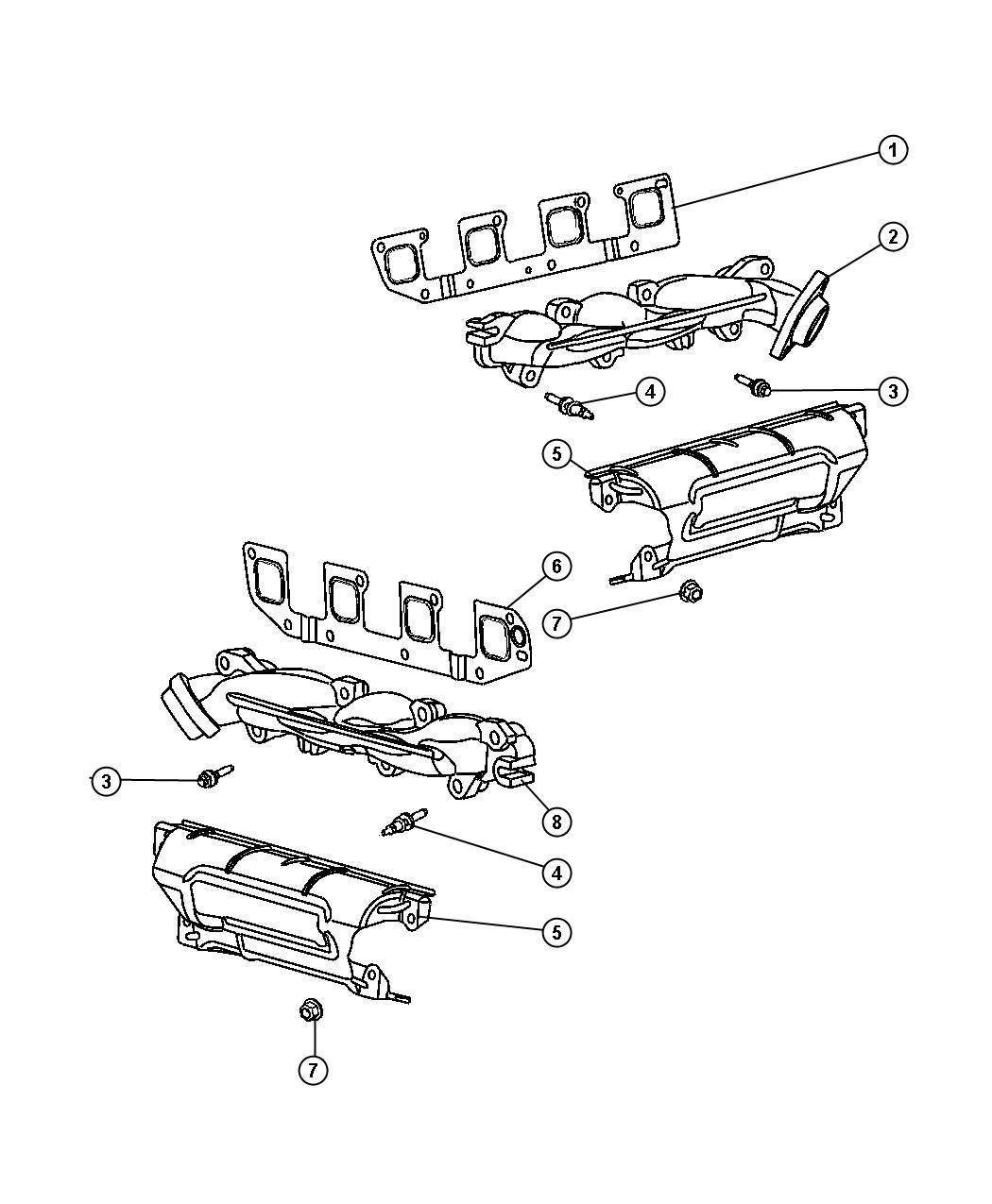 Dodge Ram Manifold Exhaust Left Right Ezb