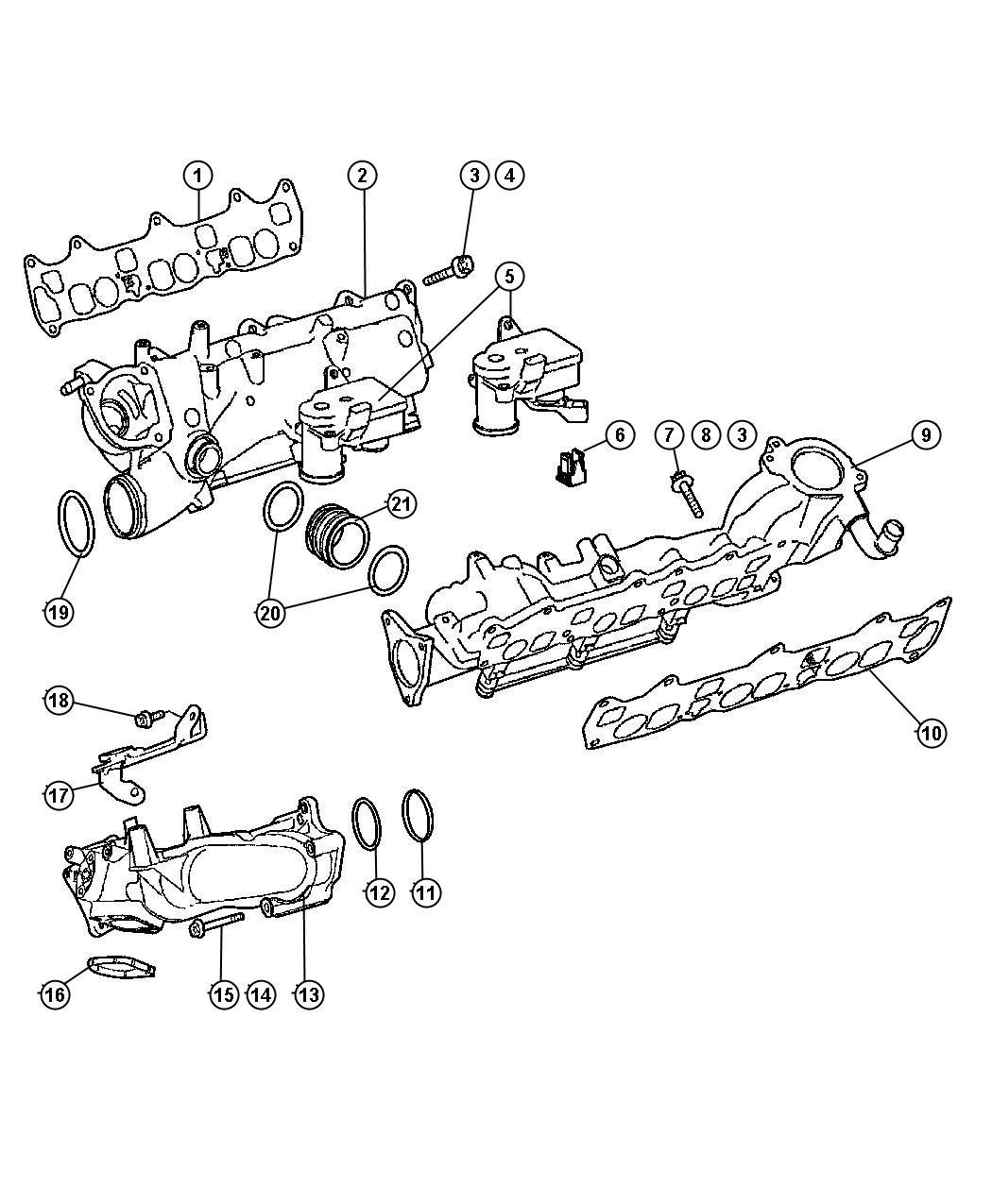 Jeep Compass Plenum Intake Manifold Rightsel