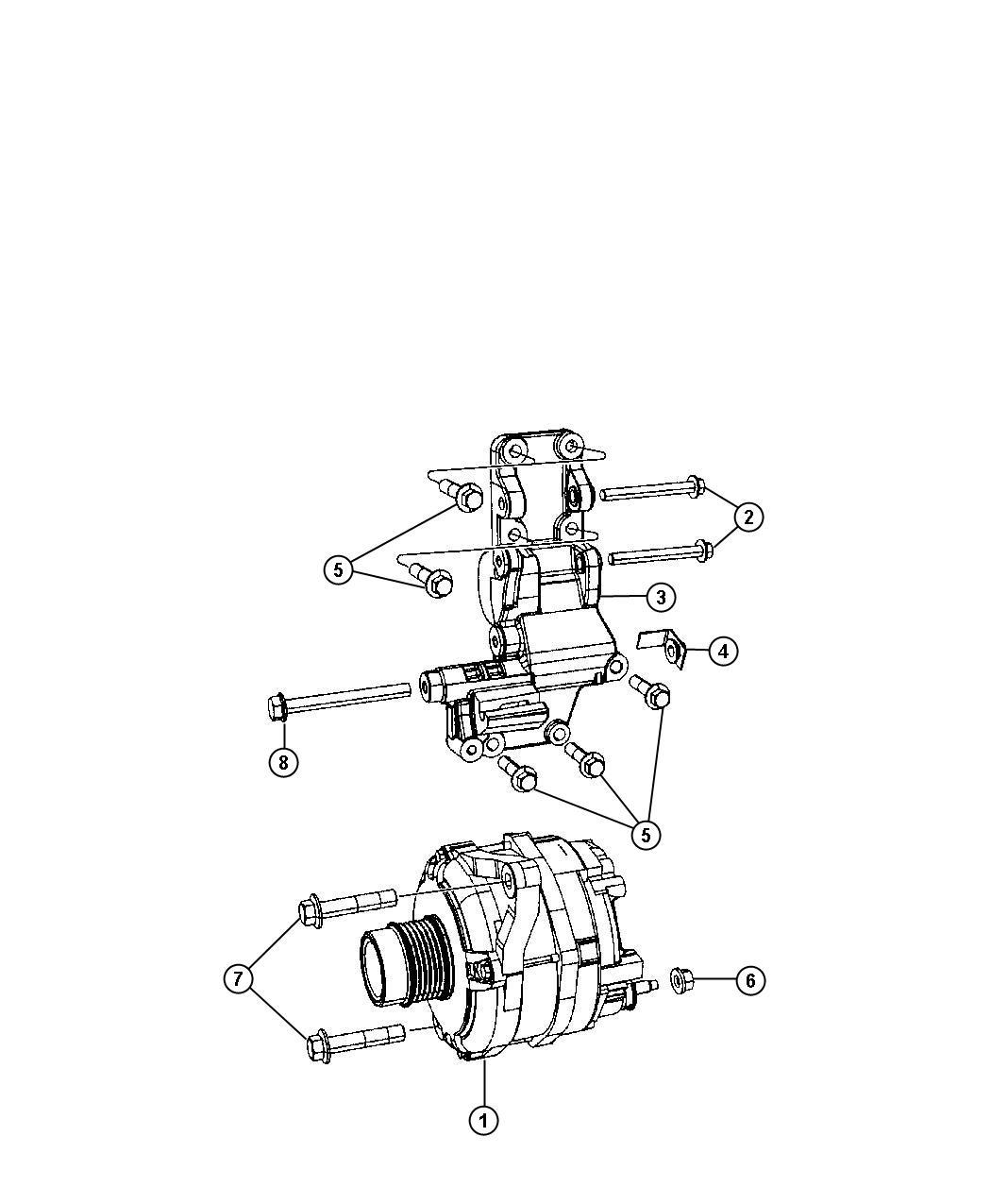 Jeep Patriot Generator Engine Remanufactured 140 Amp