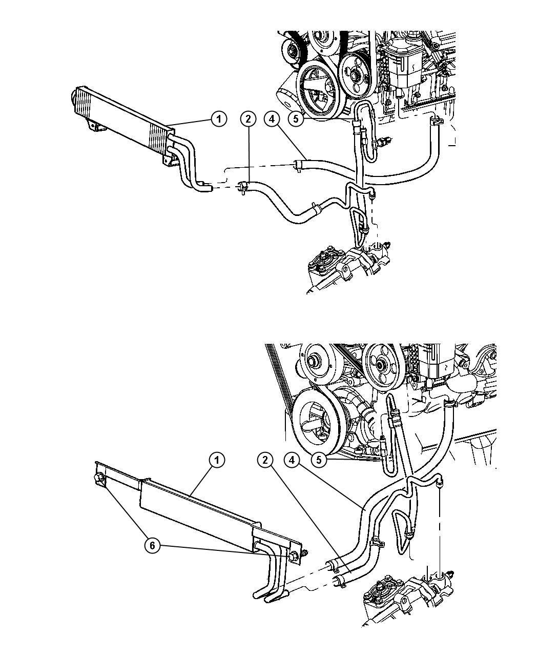 Dodge Ram Hose Power Steering Return Cooler