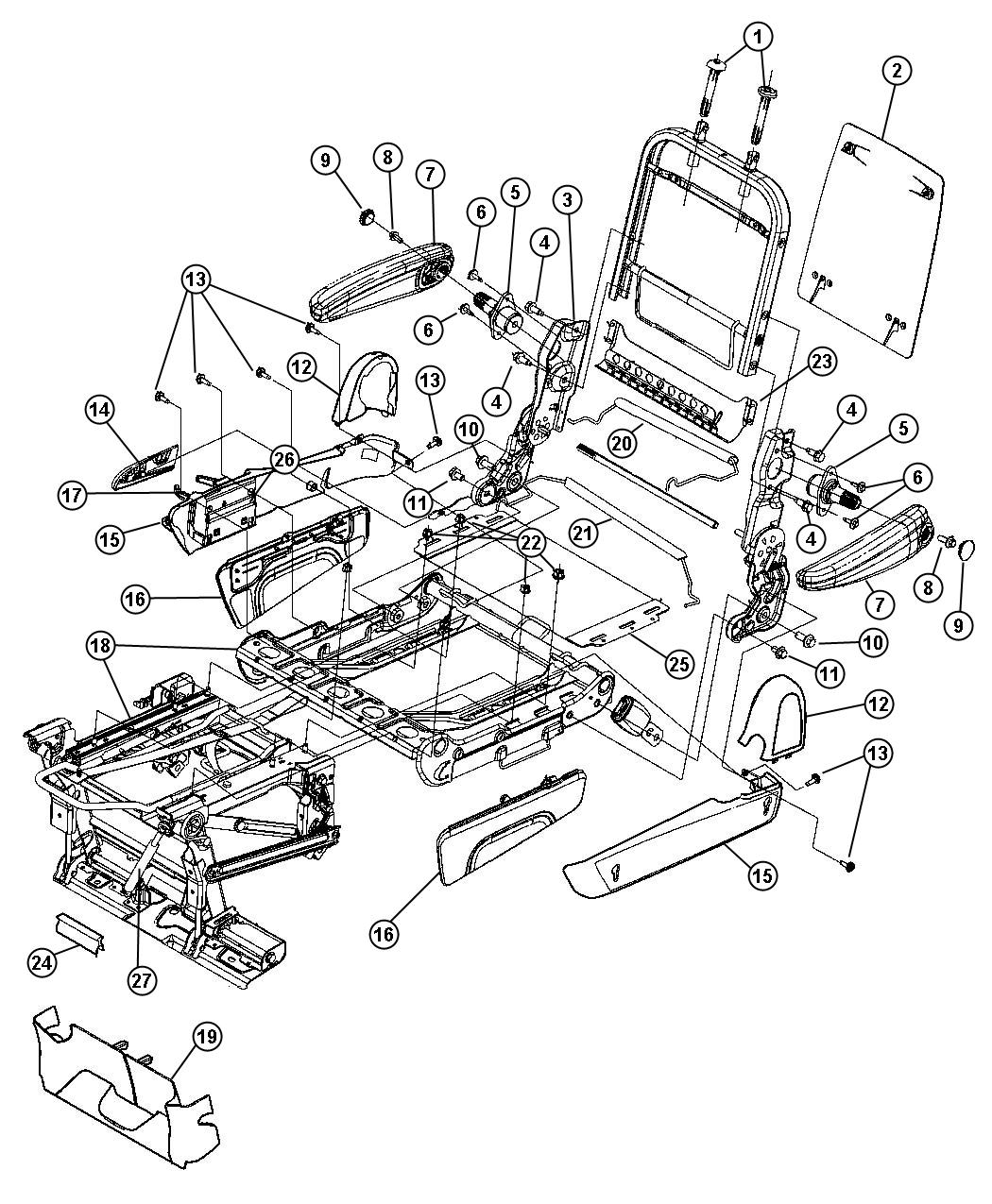 Dodge Ram Shield Shield Side Fold Flat Seat