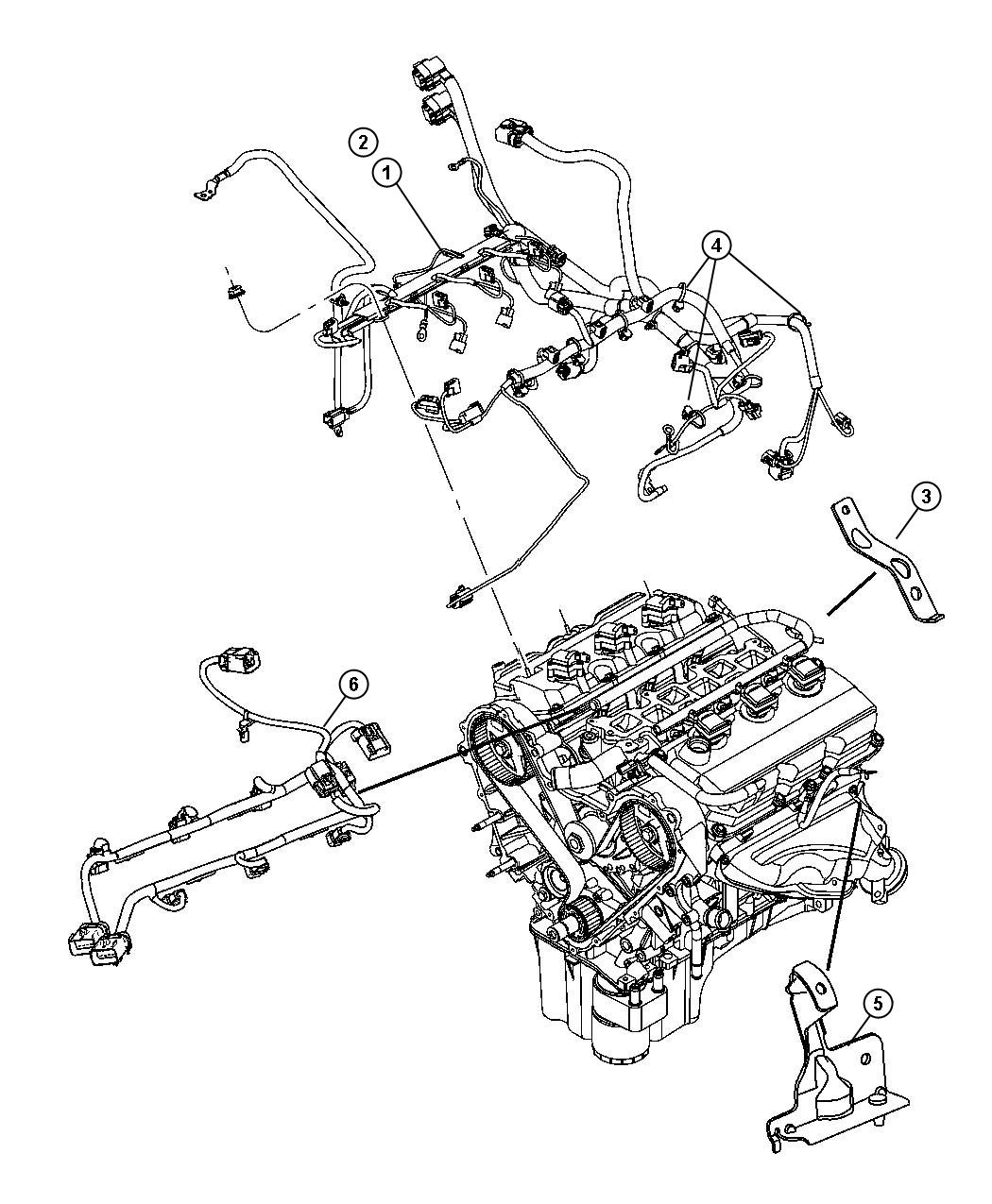 Jeep Grand Cherokee Bracket Engine Wiring After 06 07 04