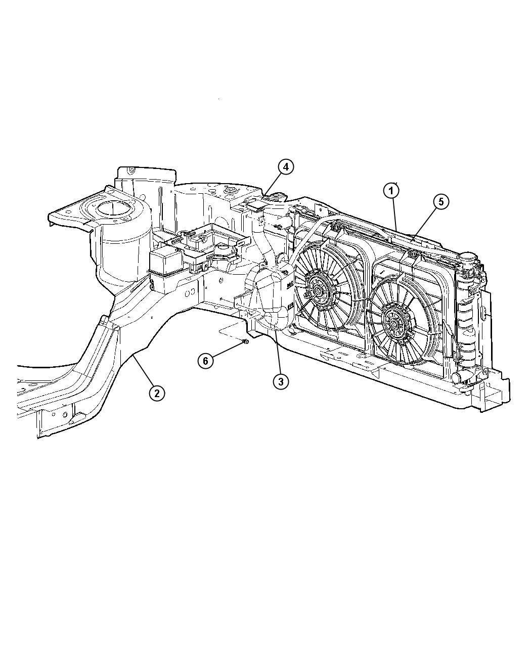 Jeep Liberty Bottle Coolant Reserve Tank Engine