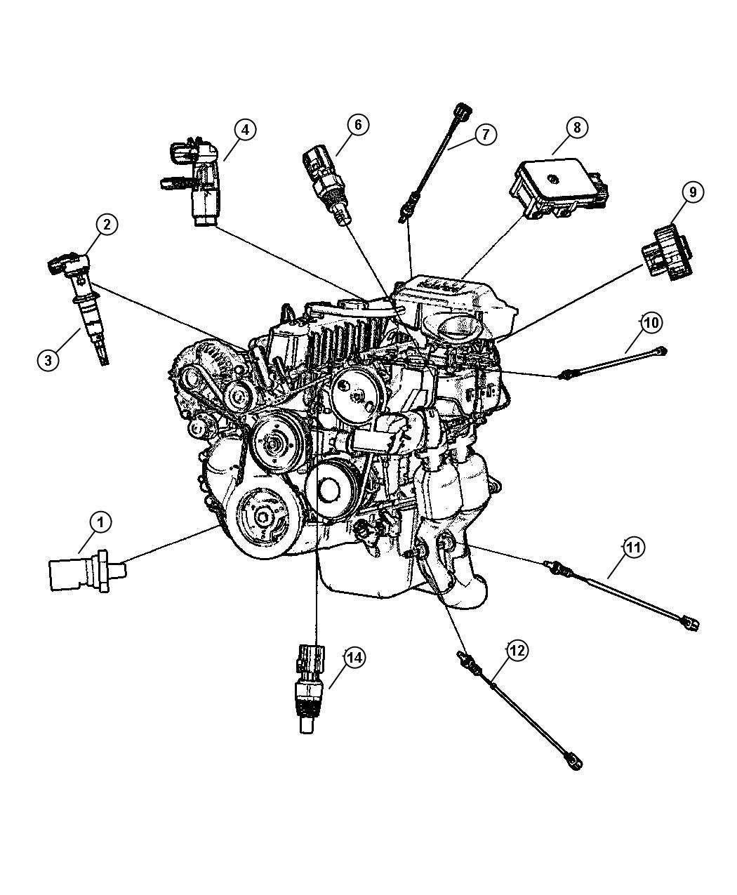 Chrysler Sebring Sensor Crankshaft Position Sensors