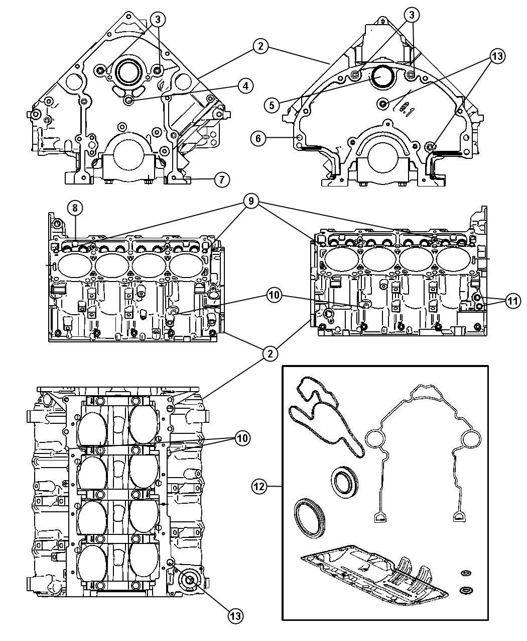 Dodge Ram Engine Short Block Remanufactured