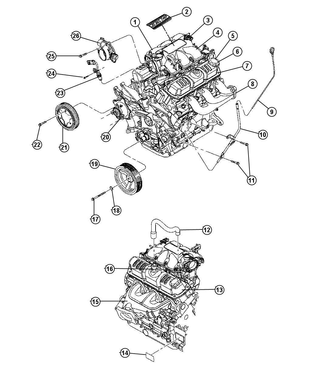 Dodge Grand Caravan Cover Cylinder Head Engine Ohv