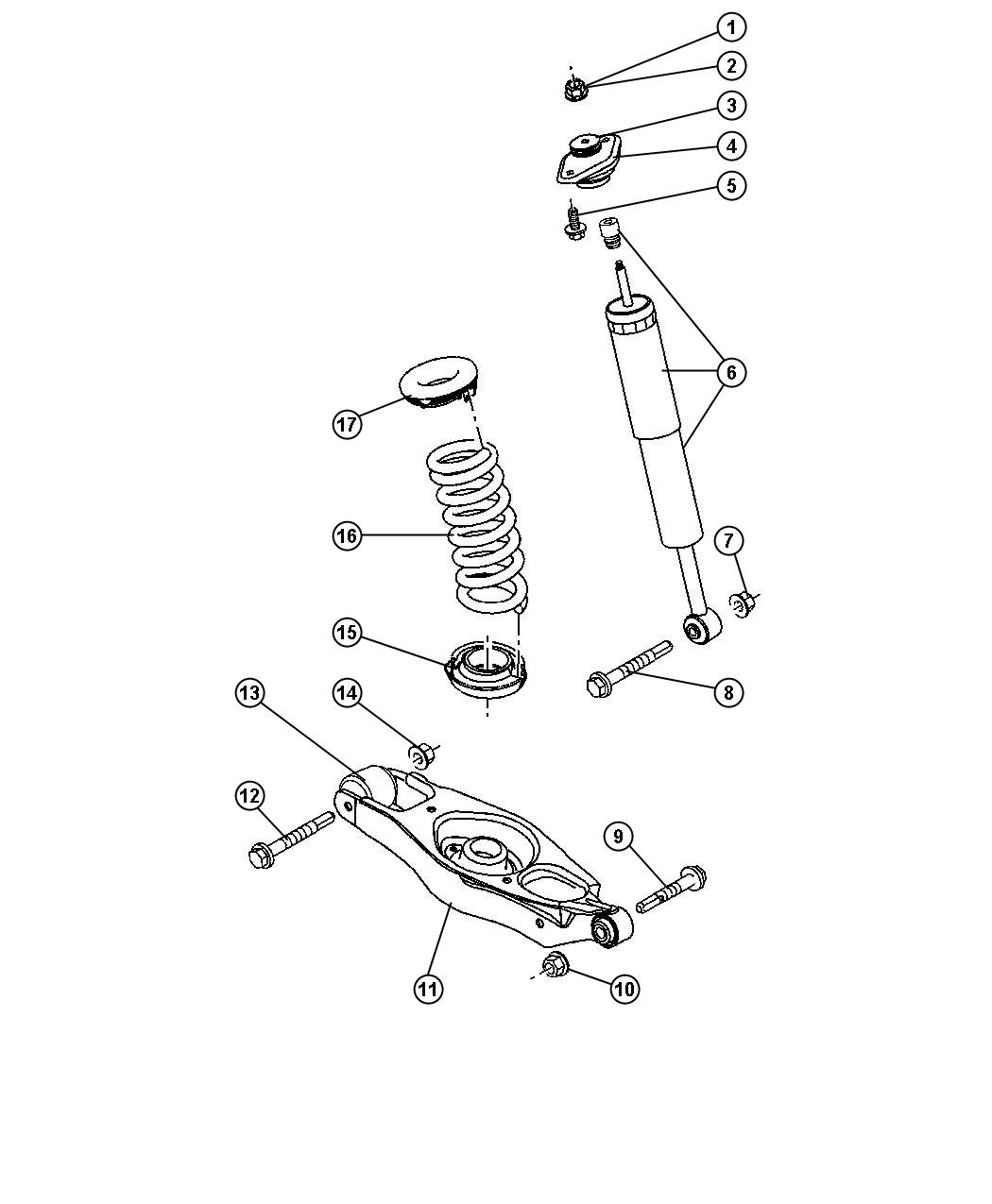 Dodge Charger Shock Absorber Suspension Rear Sdc