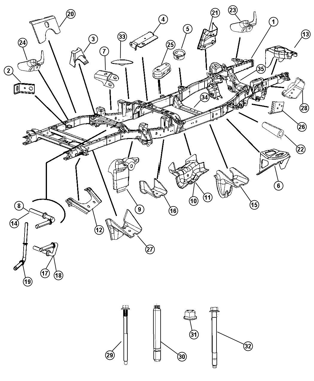 Dodge Ram Bracket Track Bar Rear Mounting