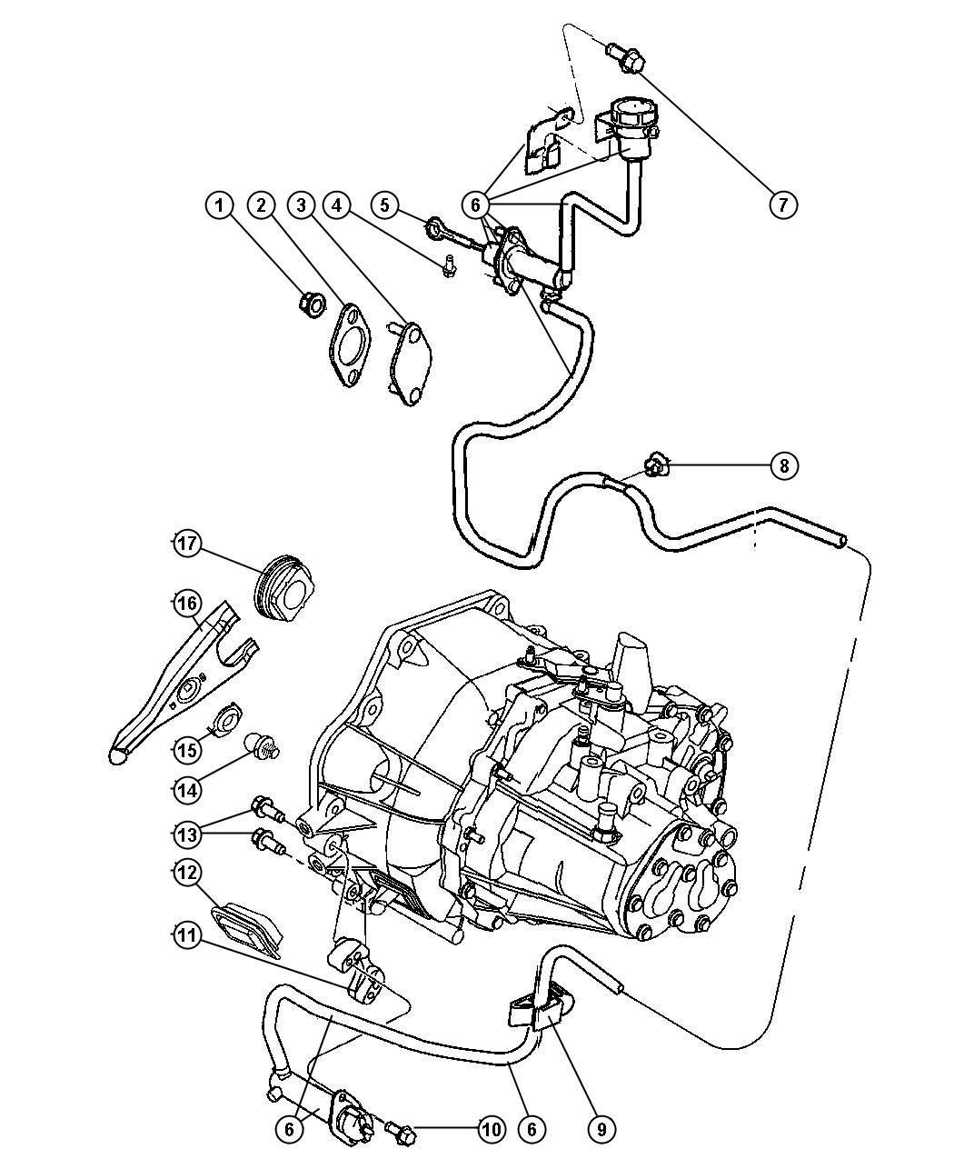 Jeep Patriot Actuator Hydraulic Clutch Lhd