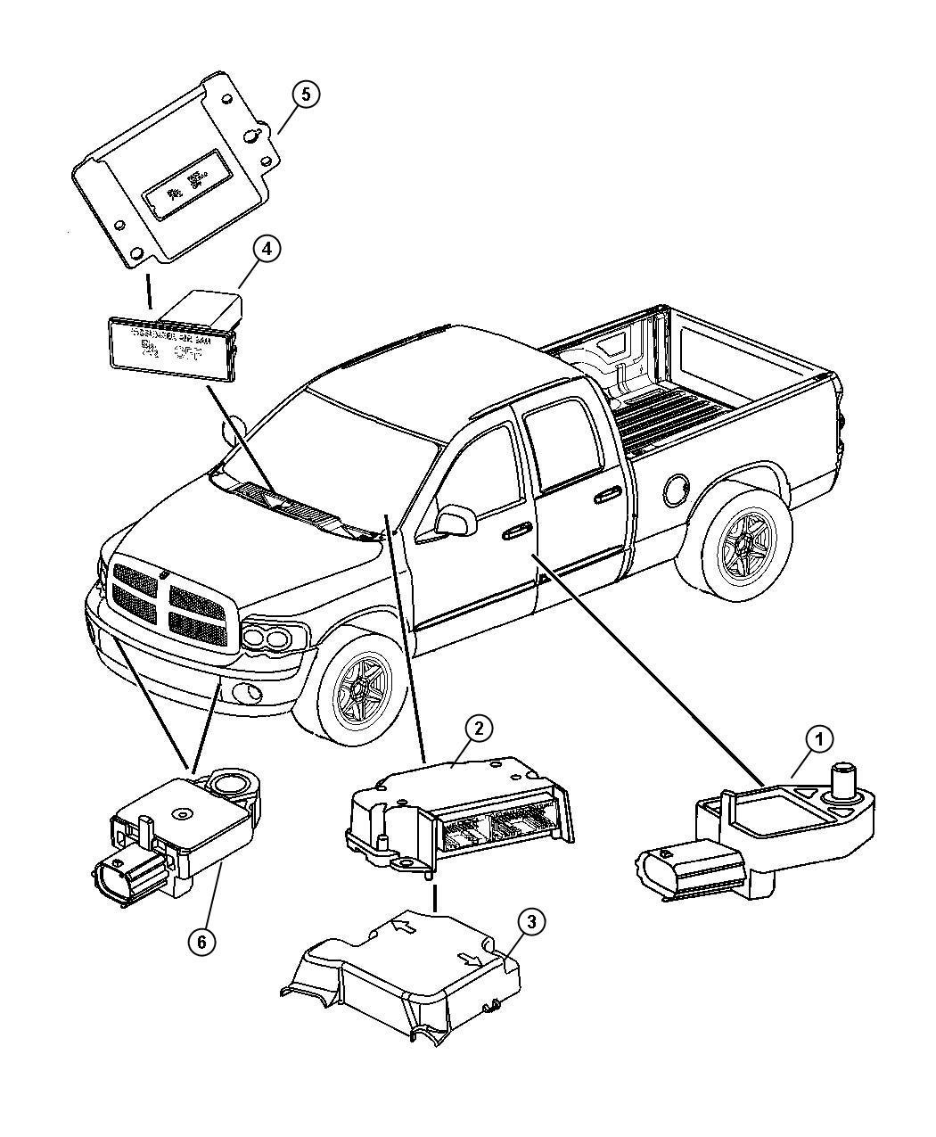 Dodge Ram Module Occupant Restraint Air Bags After